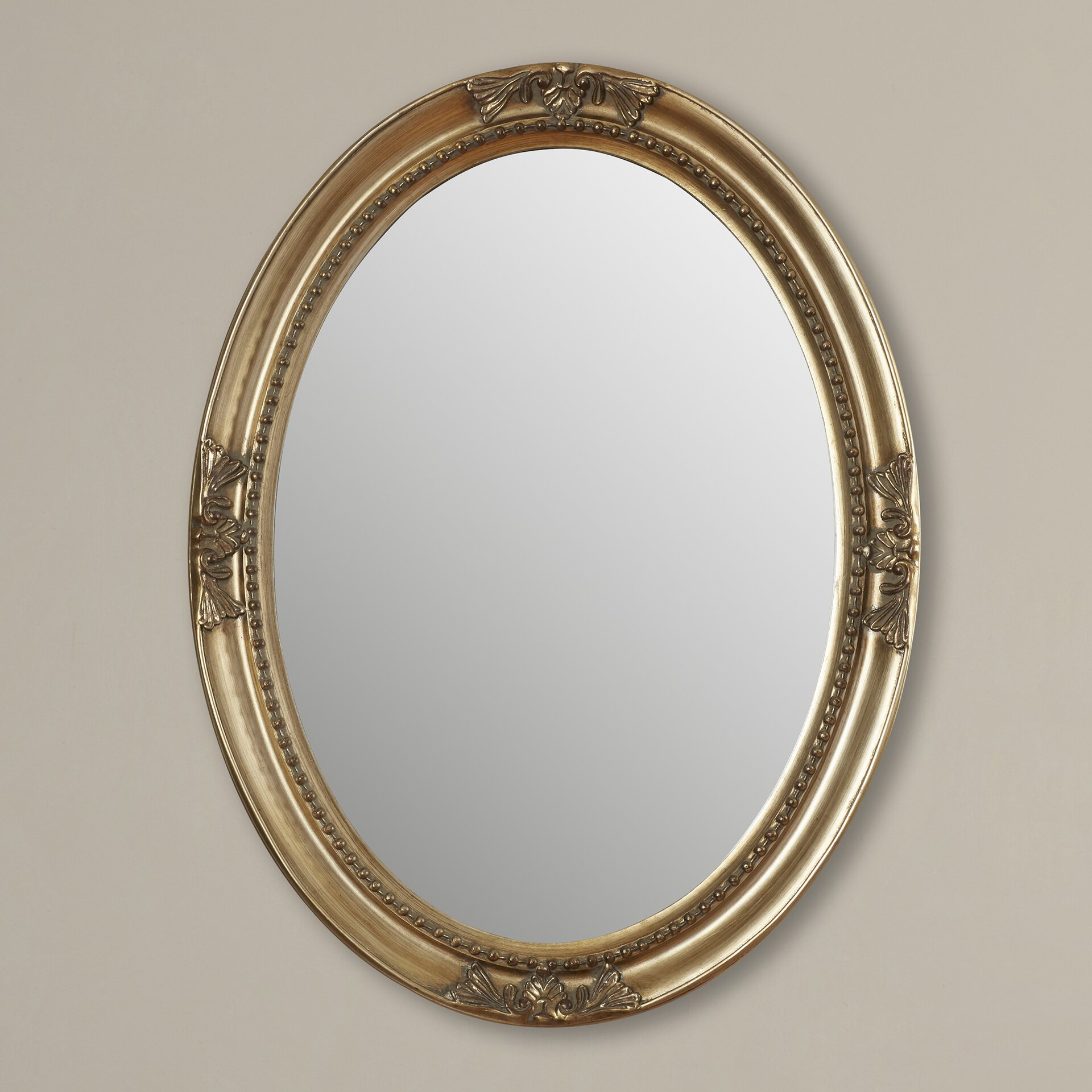 Rosalind wheeler smythe wall mirror reviews wayfair for Large fancy mirrors