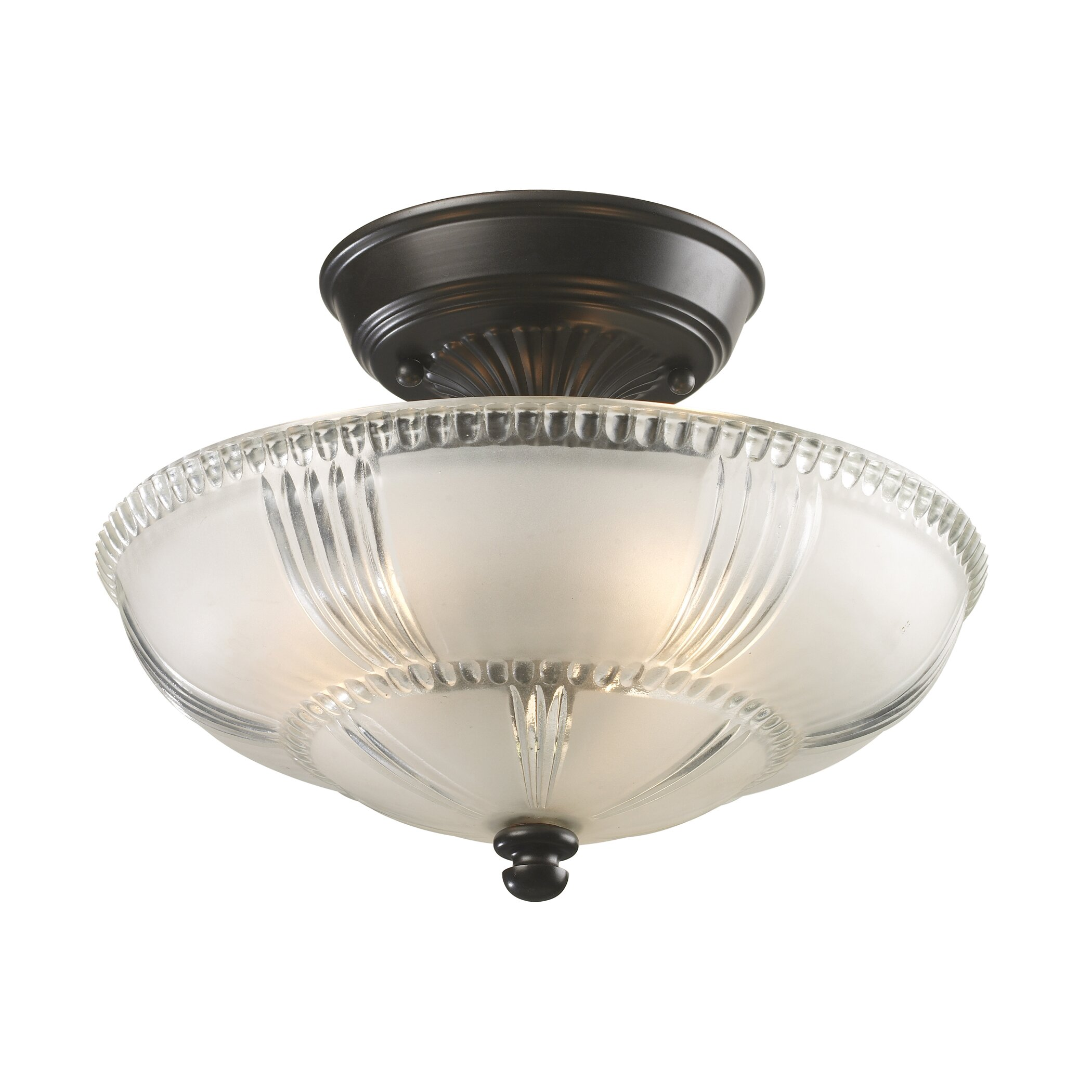 Rosalind Wheeler Lacey 3 Light Semi Flush Mount Amp Reviews