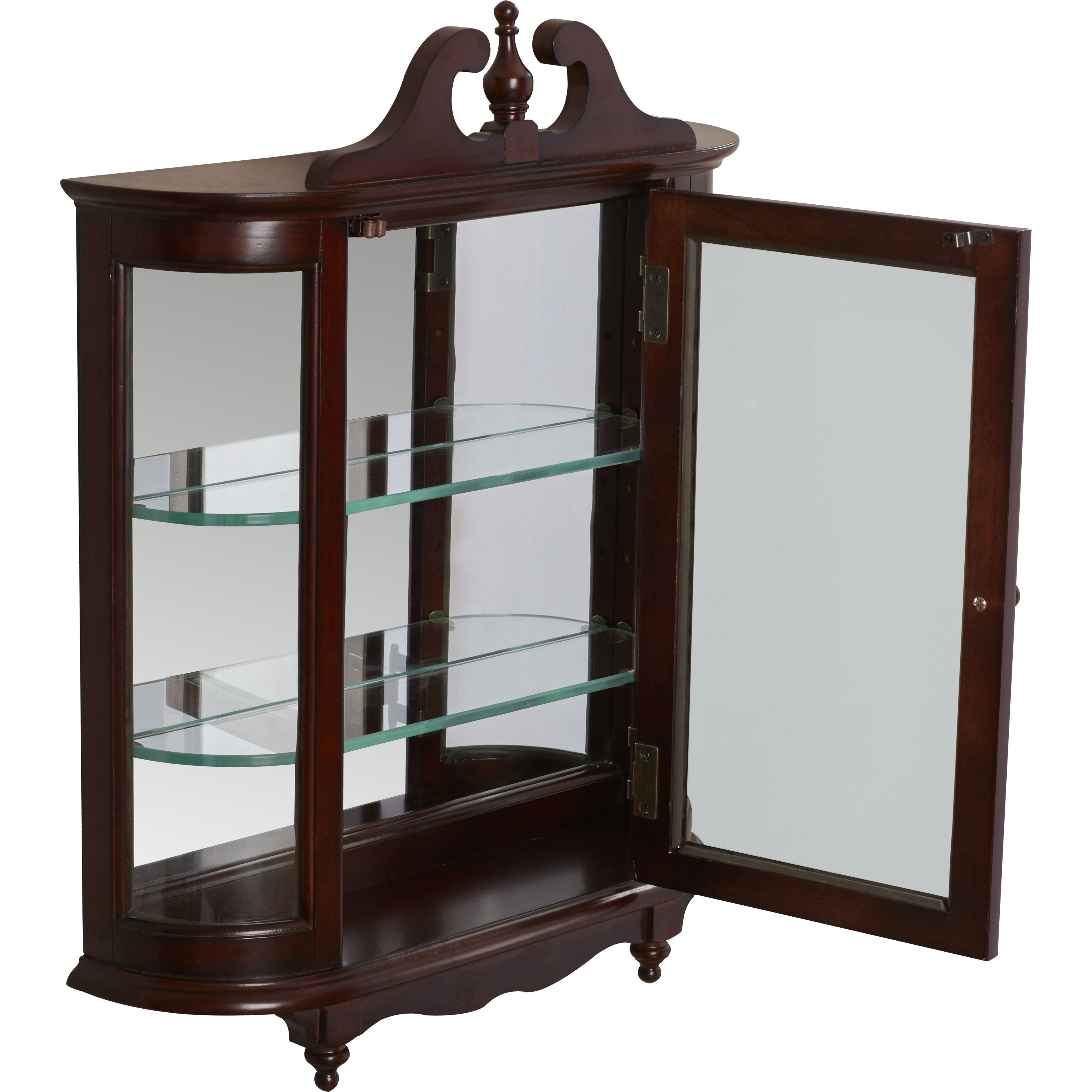 wall mounted china cabinet rosalind wheeler cheshire wall mounted curio cabinet 28092