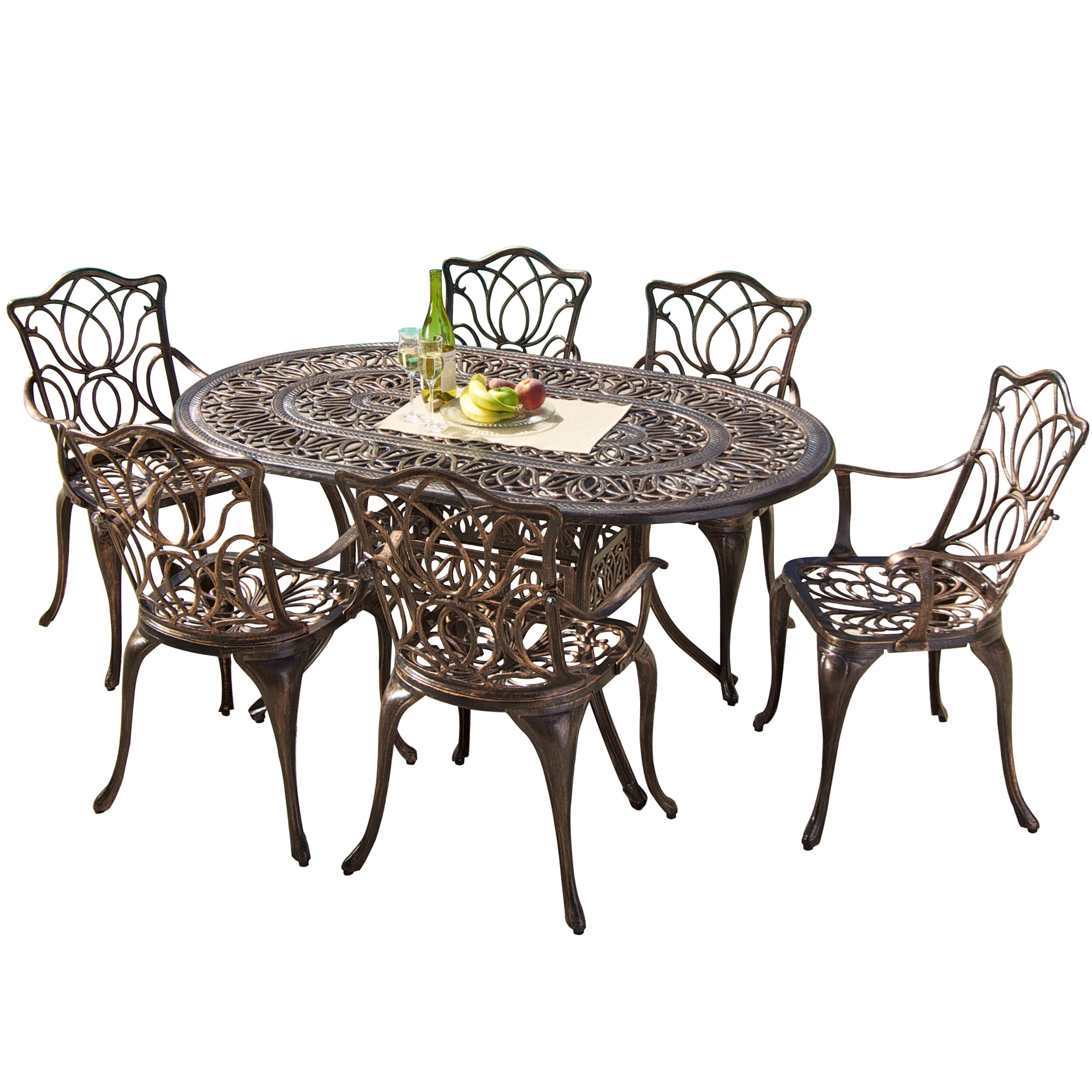 Rosalind Wheeler Dorey Outdoor Dining Table amp Reviews  : Dorey Dining Table RSWH2542 from www.wayfair.com size 2500 x 2500 jpeg 864kB