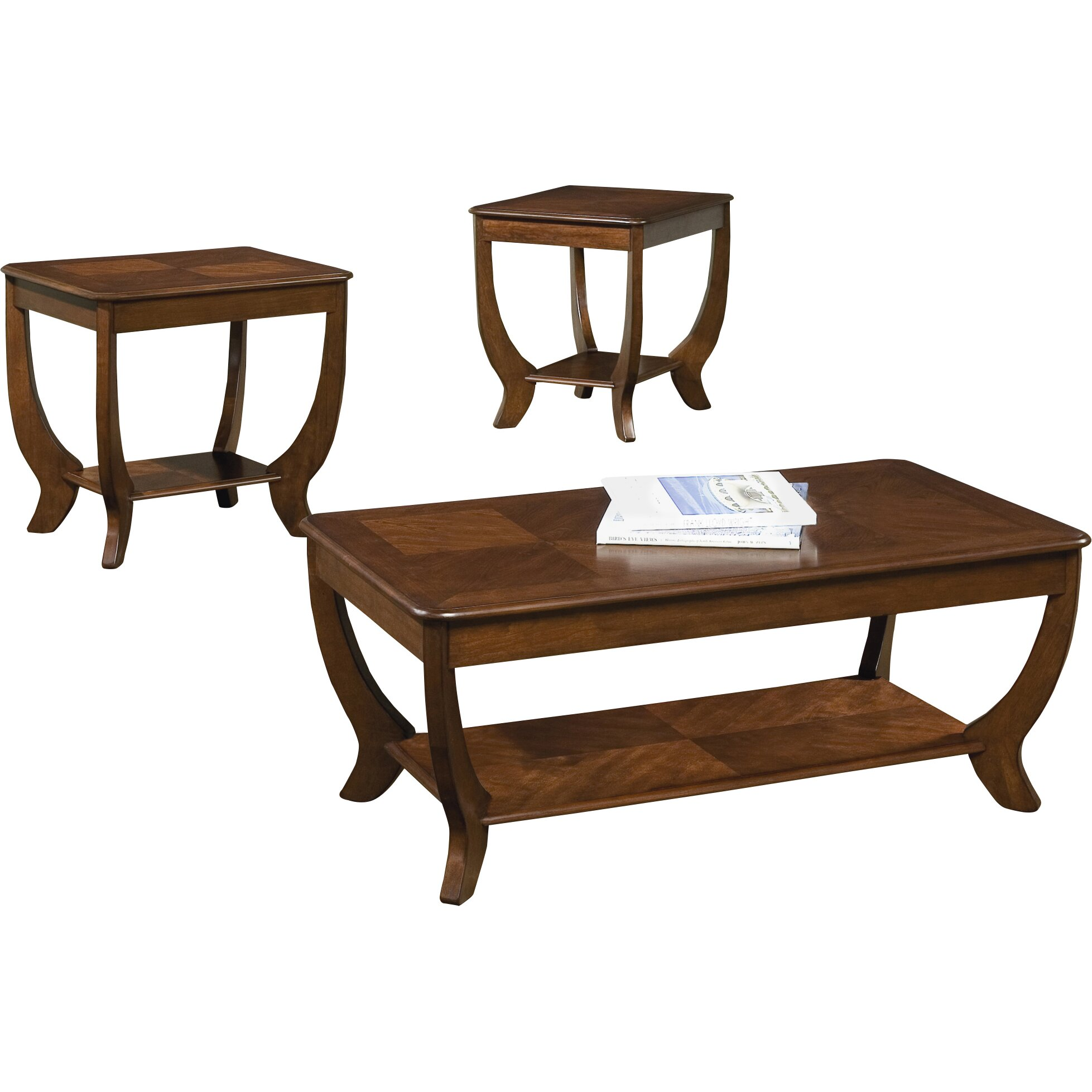 Rosalind wheeler pettigrew 3 piece coffee table set reviews 3 set coffee tables