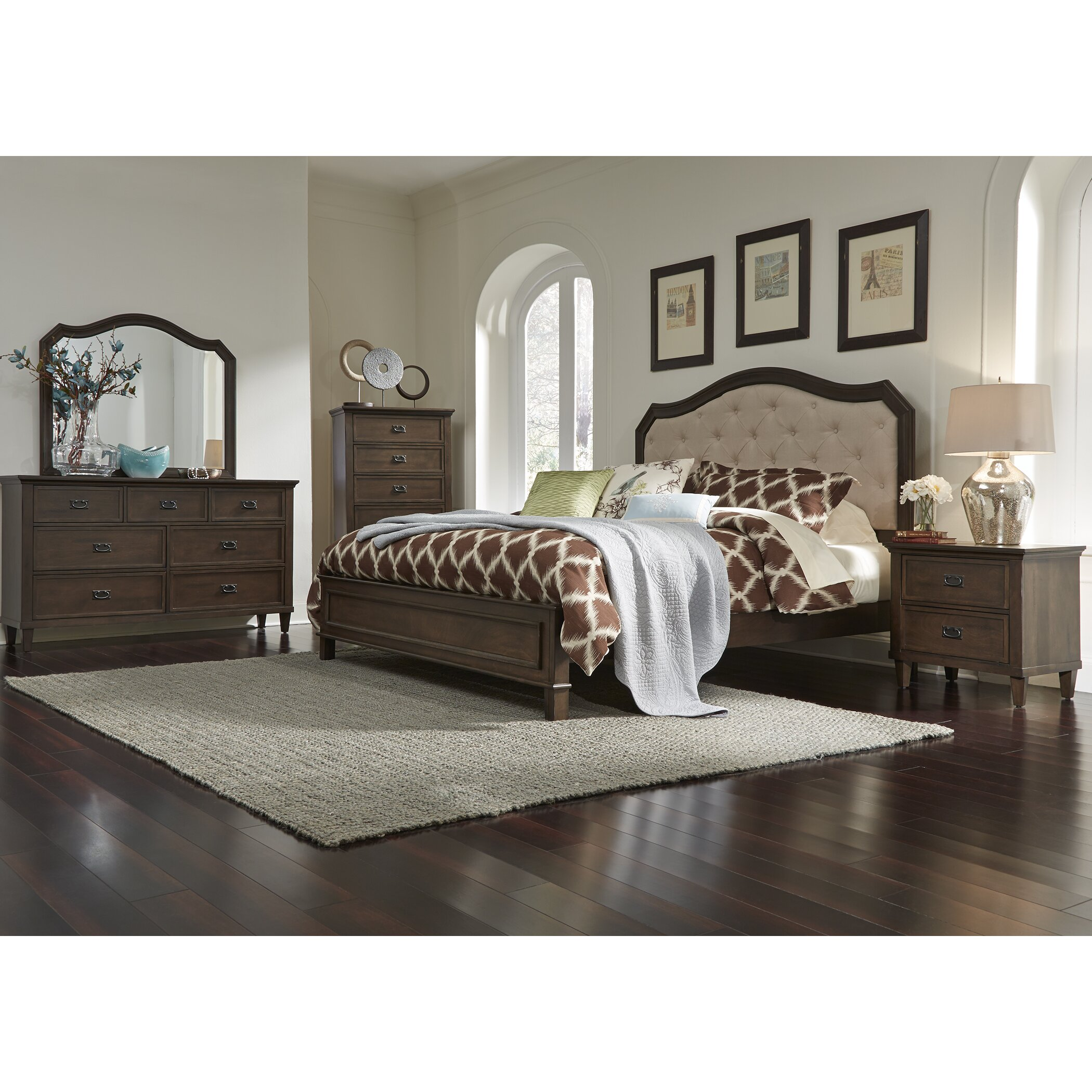 Rosalind Wheeler Dunamoy Platform Customizable Bedroom Set