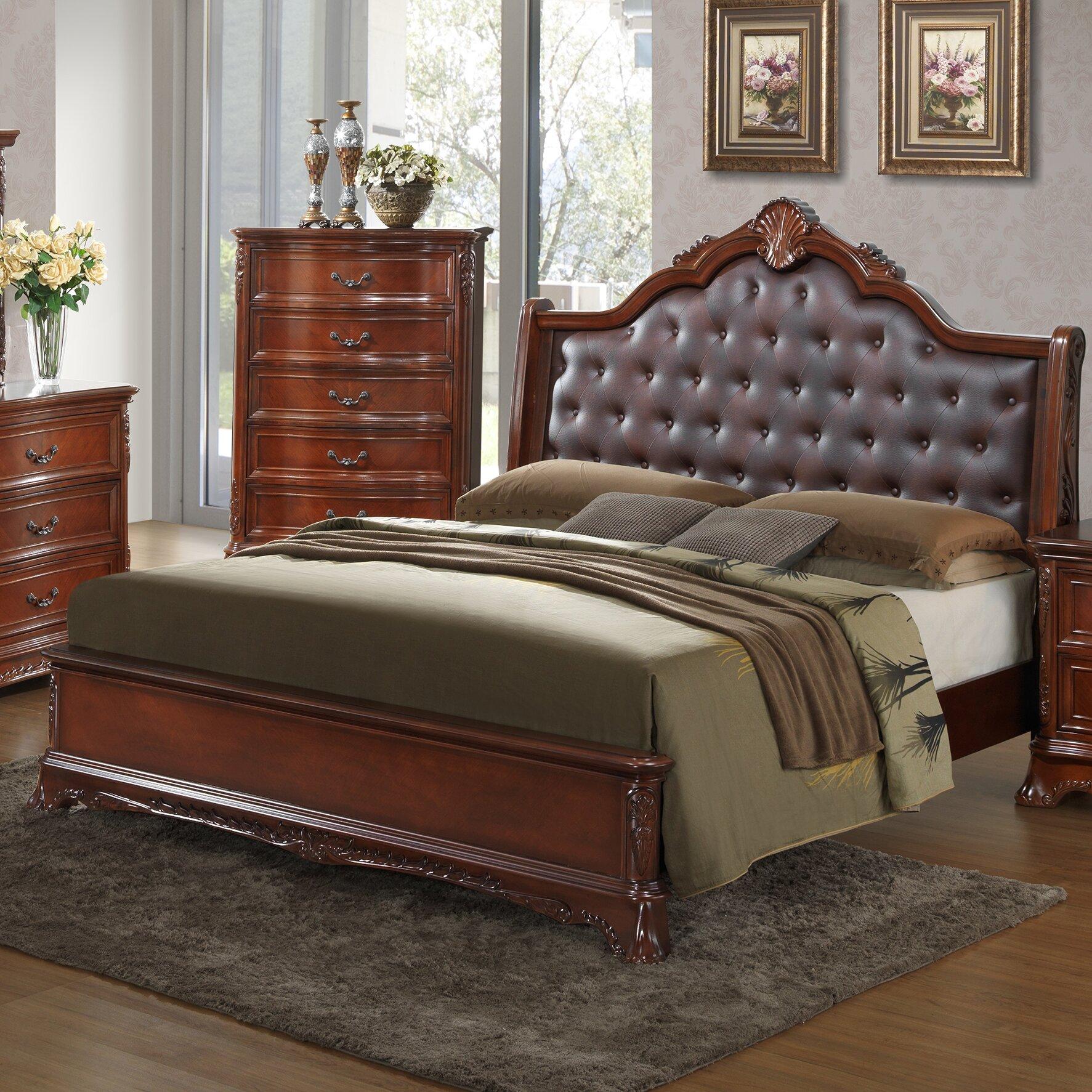 Rosalind Wheeler Bachelor Sleigh Customizable Bedroom Set ...