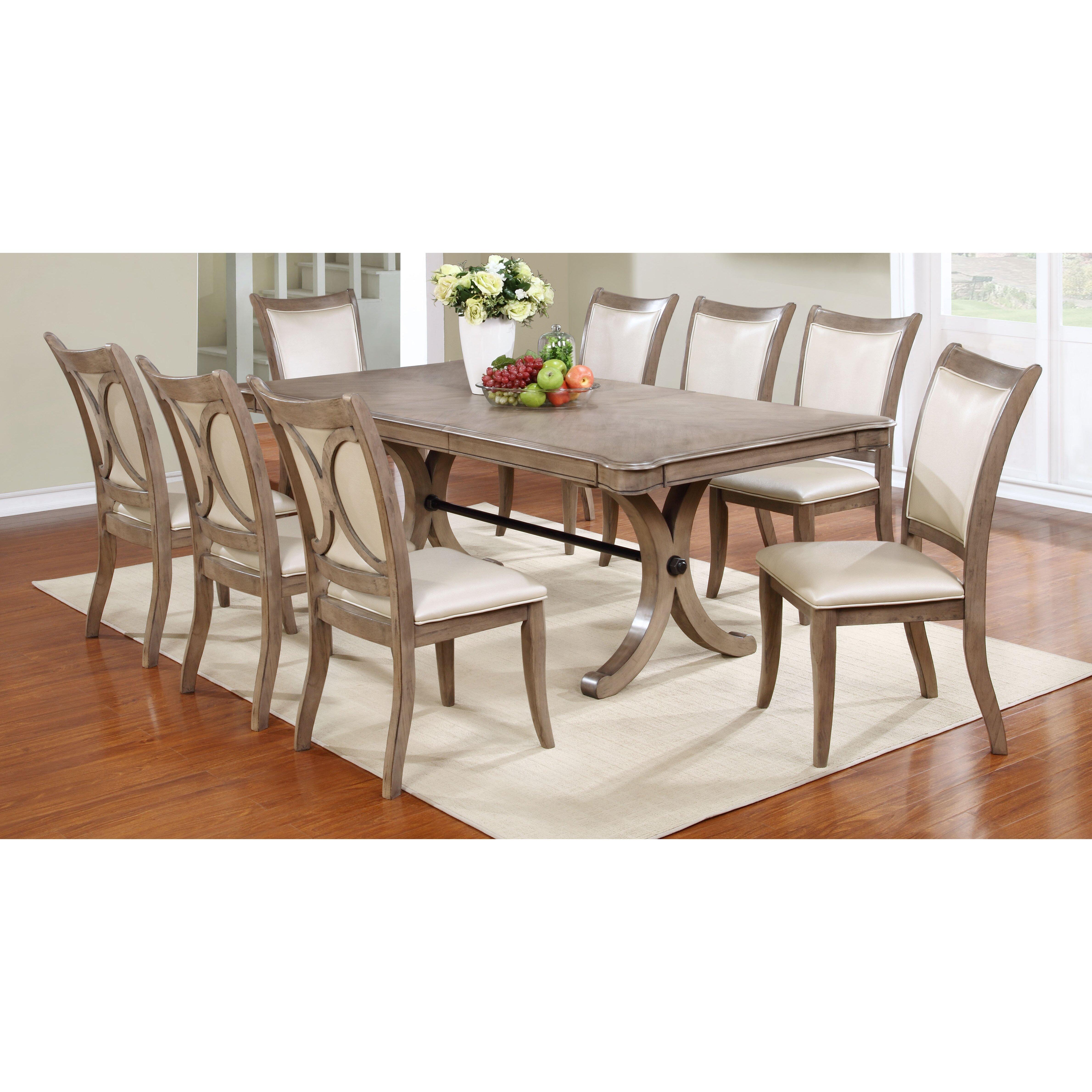 Rosalind wheeler regina 9 piece dining set reviews wayfair for Dining room tables 9 piece