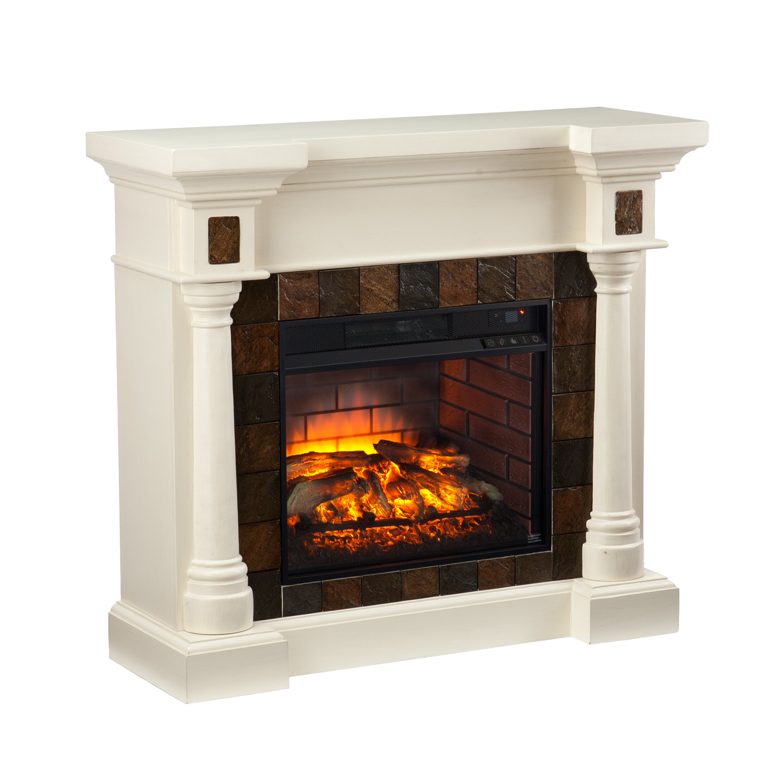 Rosalind Wheeler Goodrich Convertible Infrared Electric Fireplace Reviews Wayfair