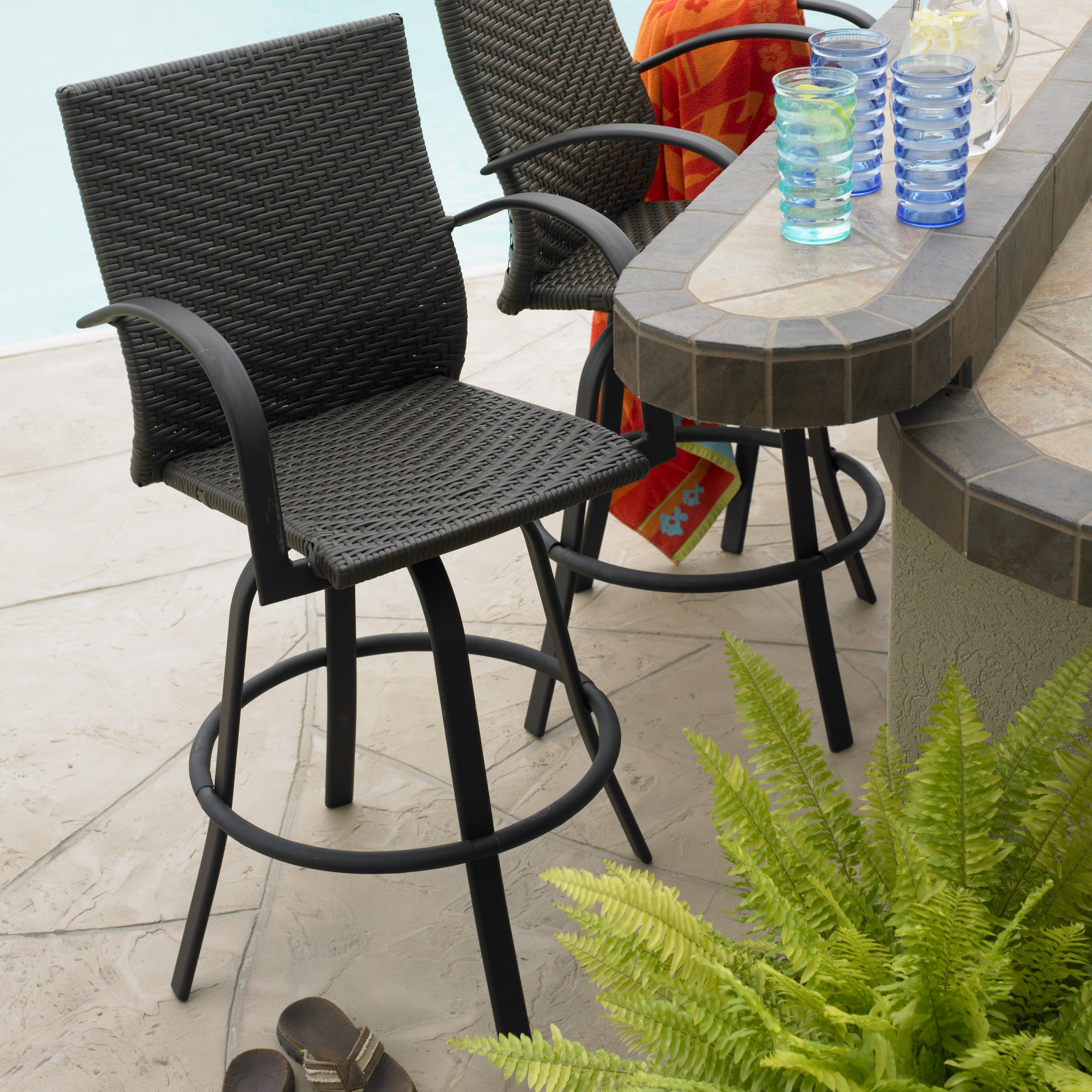 Bay Isle Home Antigua 29quot Bar Stool amp Reviews Wayfair : Naples2BSwivel2BBarstool2BSet from www.wayfair.com size 3784 x 3784 jpeg 2583kB
