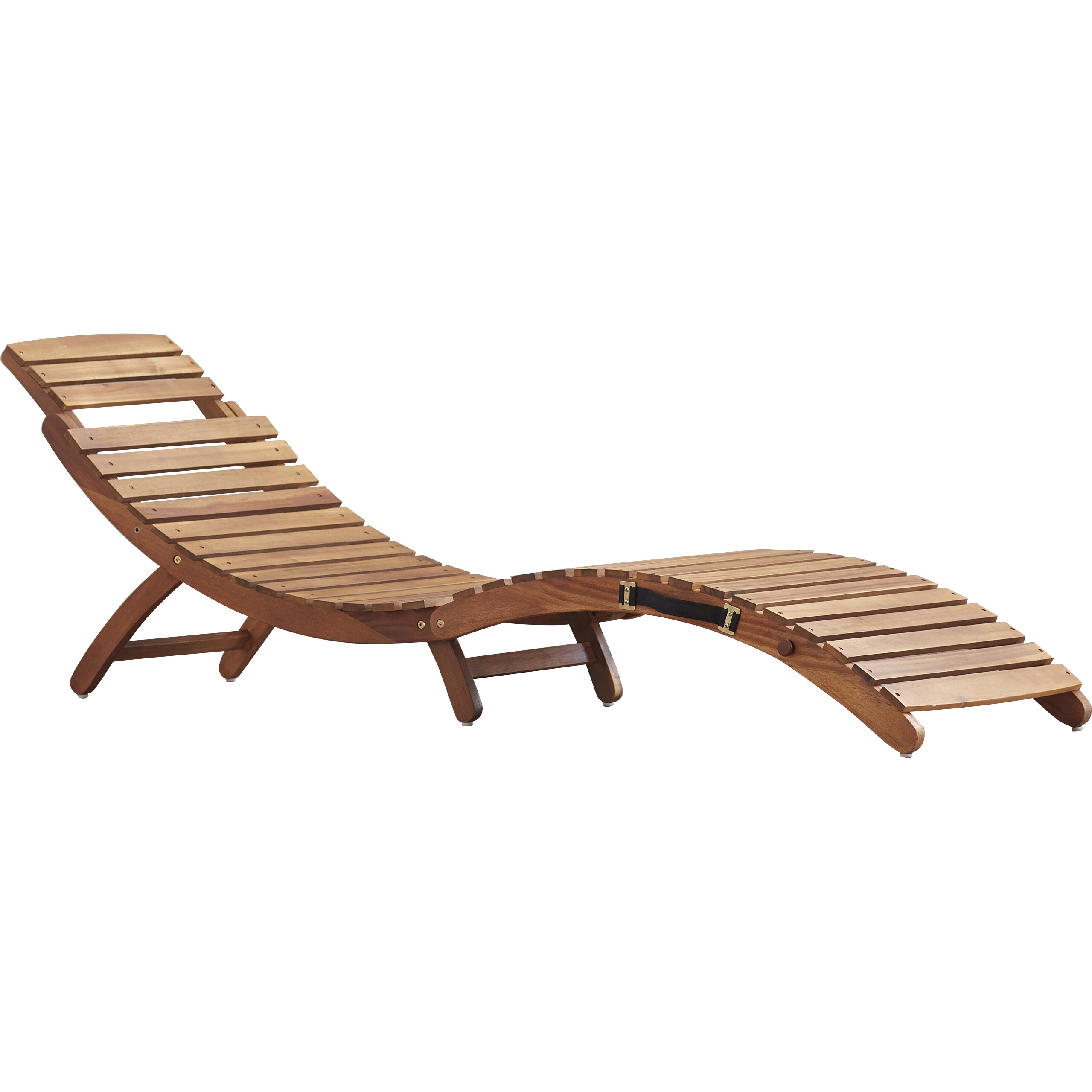 Bay Isle Home Philodendron Wood Outdoor Chaise Lounge & Reviews