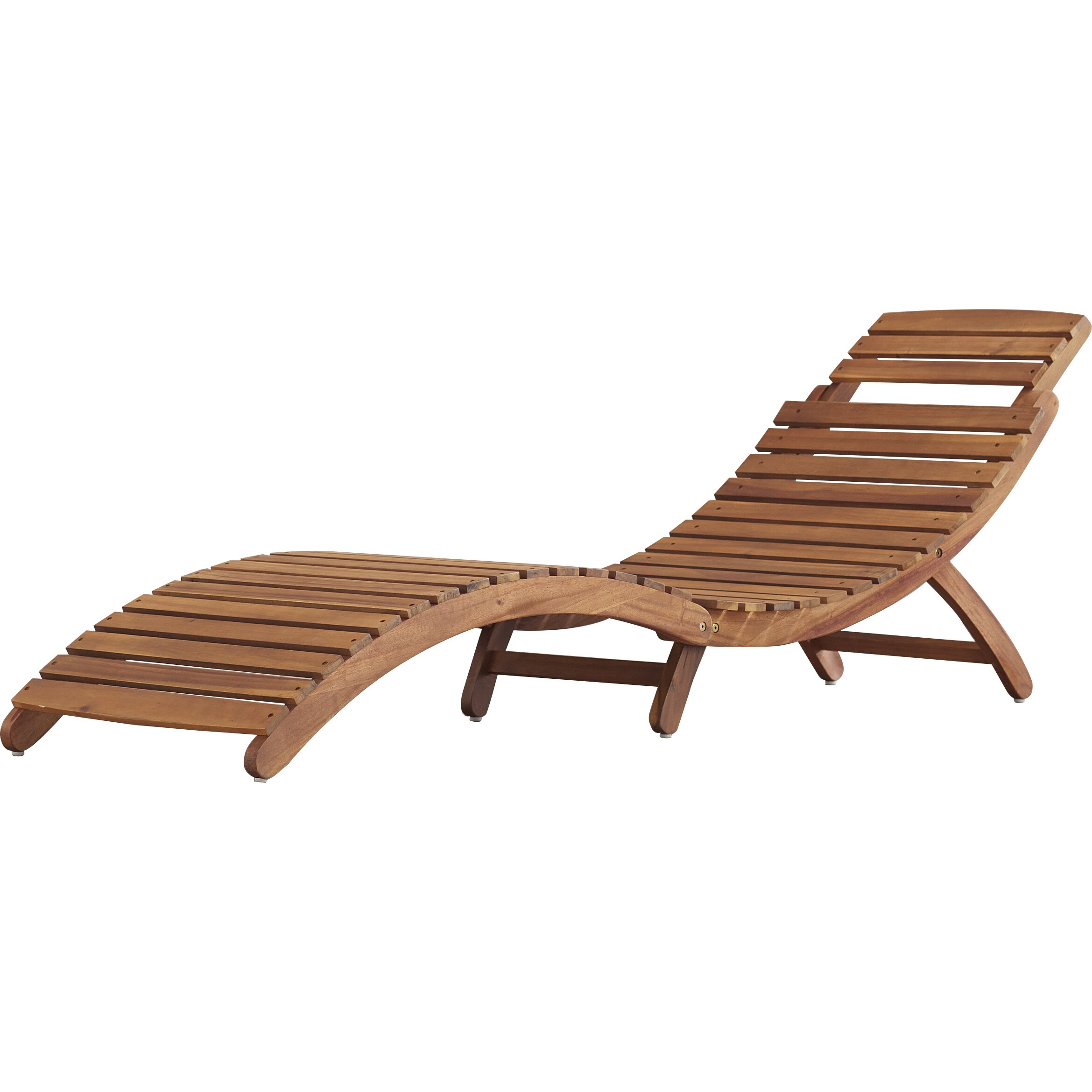 Bay Isle Home Philodendron Wood Outdoor Chaise Lounge Reviews Wayfair