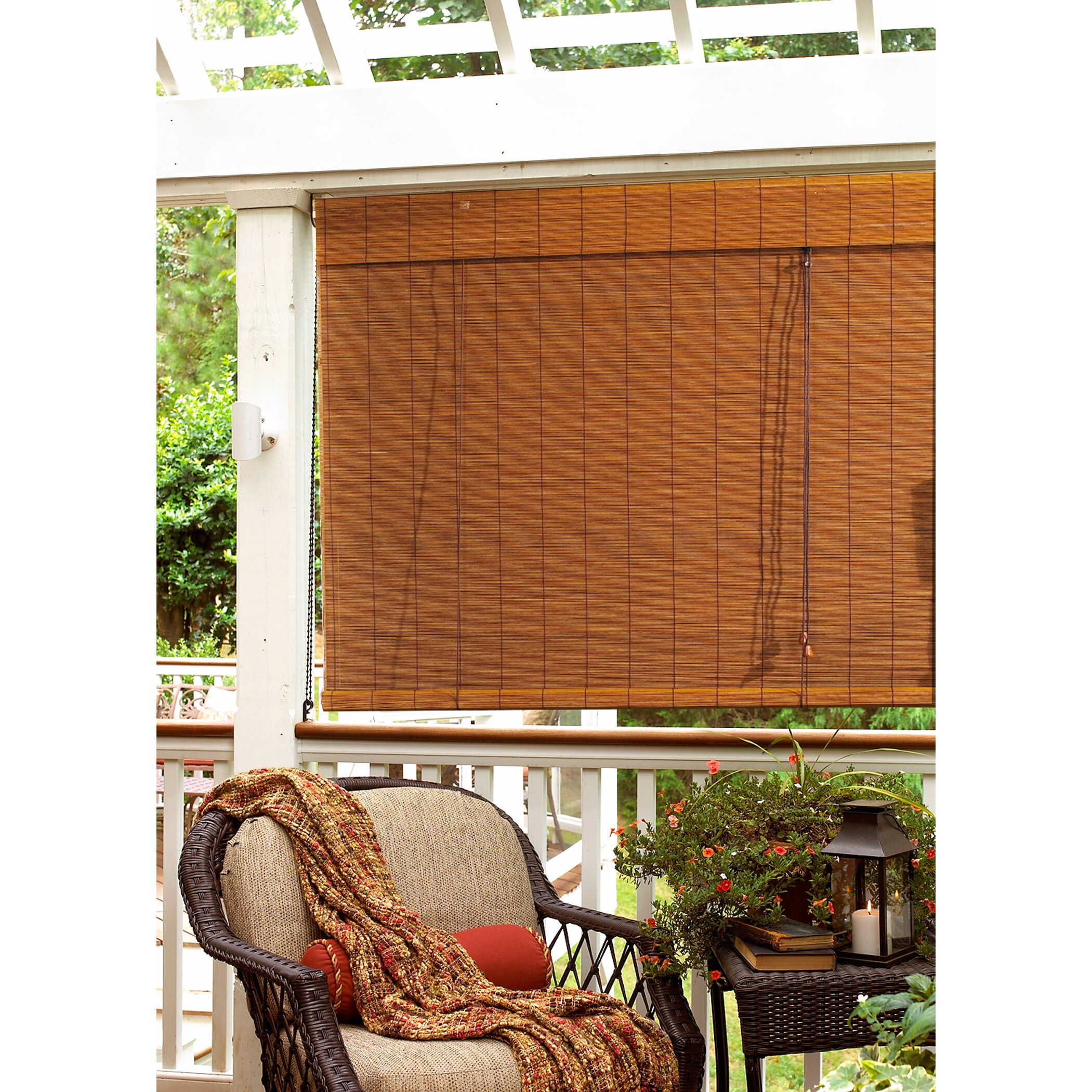Bay Isle Home Outdoor Bamboo Roll Up Blind Reviews Wayfair