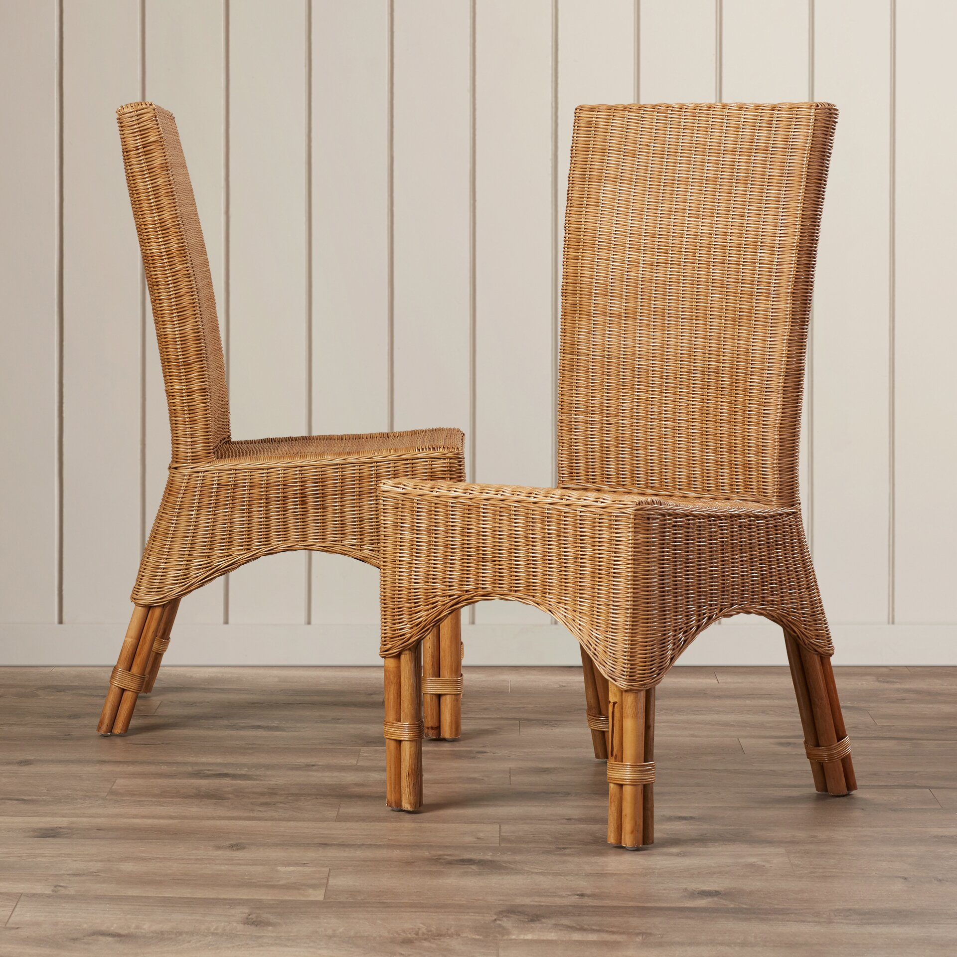 Bay Isle Home Staples Rattan Dining Chair With Rattan Pole
