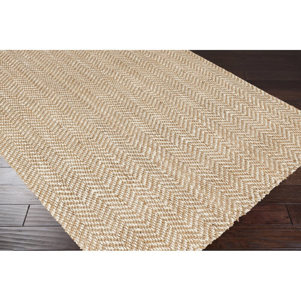 Bay Isle Home Bradford Hand Woven Cream Tan Area Rug