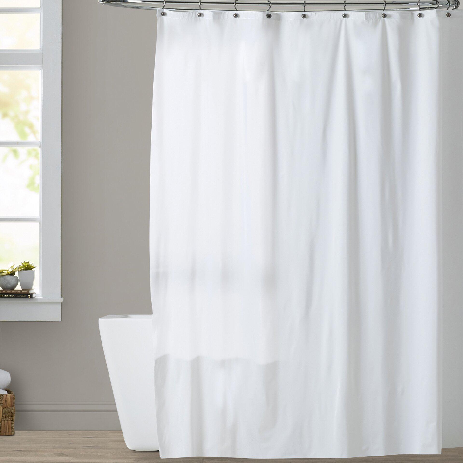 Symple Stuff 10 Gauge Mildew Resistant Vinyl Shower Curtain Liner Reviews Wayfair