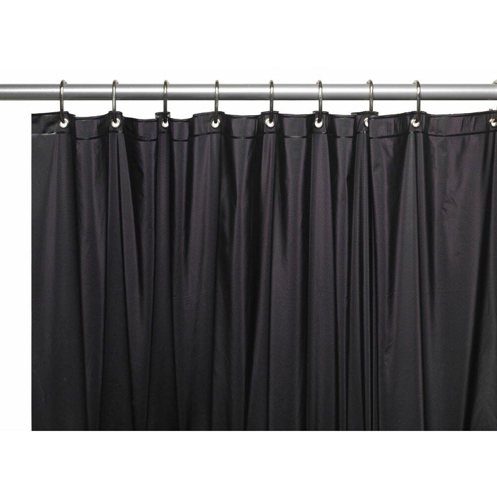 Symple Stuff 10 Gauge Mildew Resistant Vinyl Shower Curtain Liner Reviews