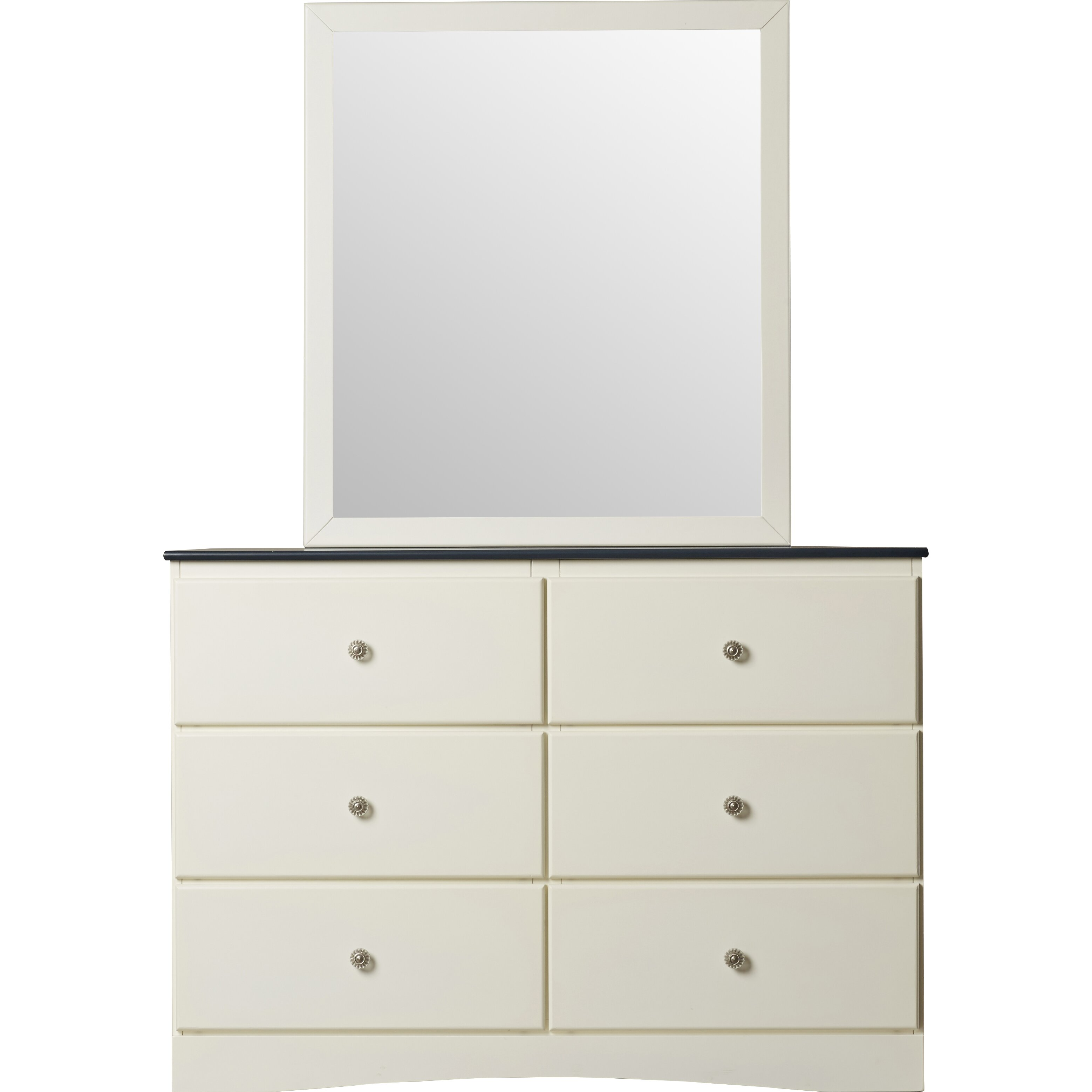 Zoomie kids cristina 6 drawer dresser with mirror for 1 door 6 drawer chest