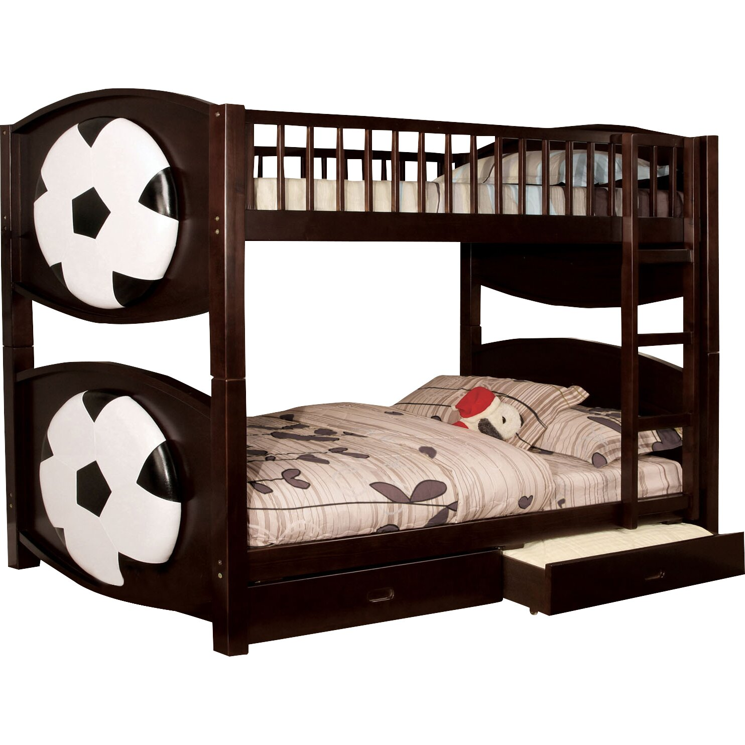 Zoomie Kids Aiden Twin Bunk Bed with Storage