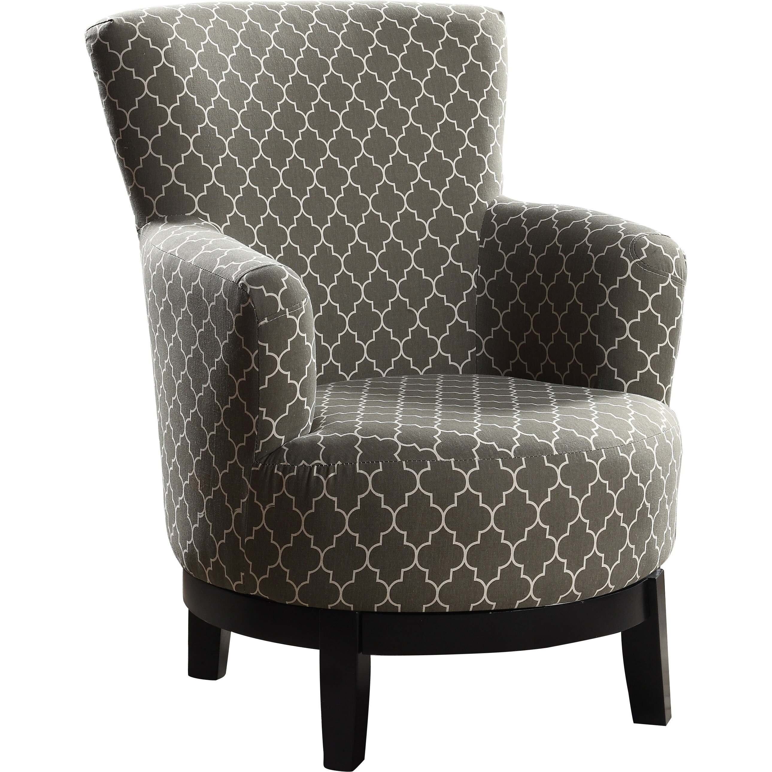 Nathanielhome london swivel arm chair reviews wayfair for Swivel accent chairs with arms