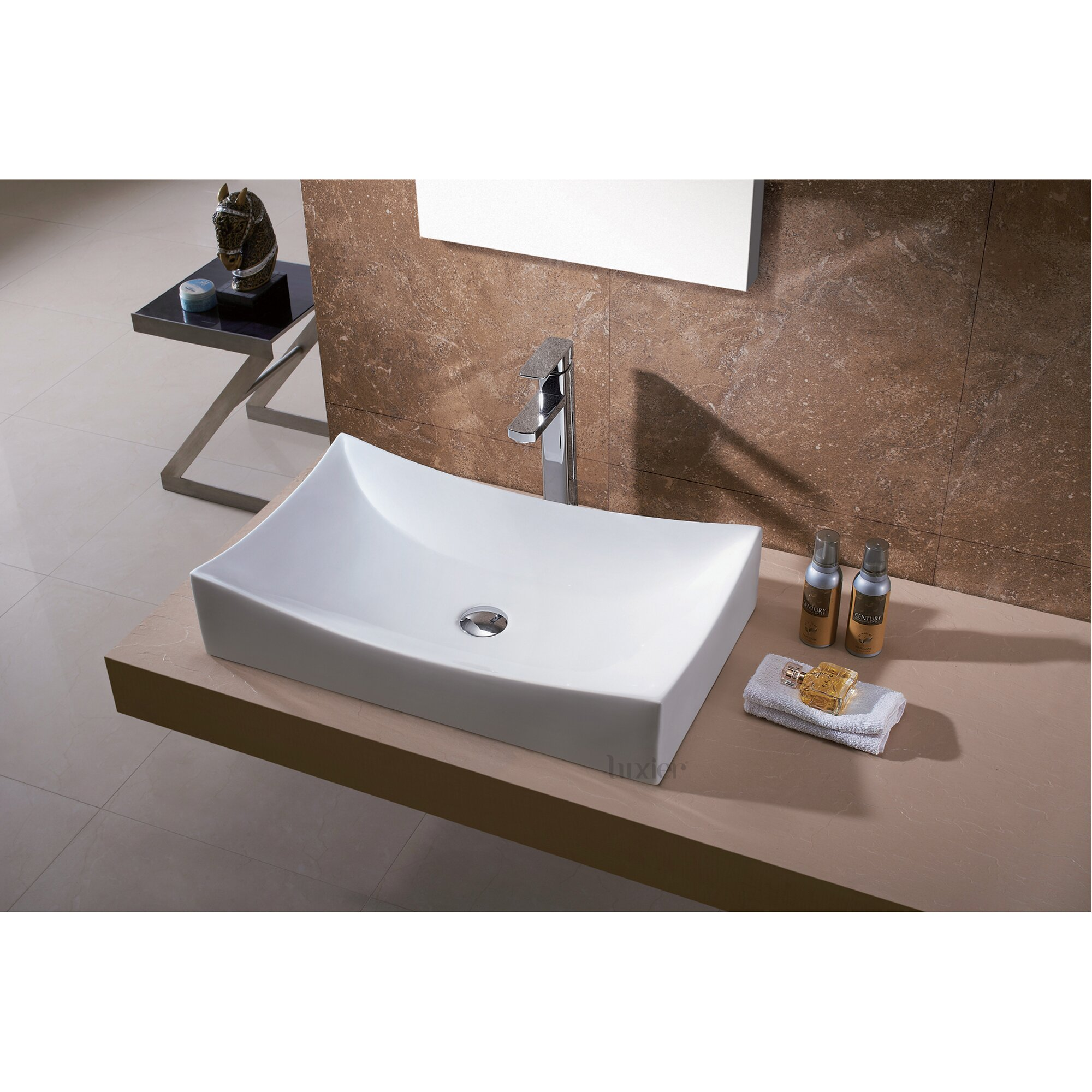 Porcelain Vessel Sinks Bathroom : Luxier L-001 Bathroom Porcelain Ceramic Vessel Vanity Sink Art Basin ...