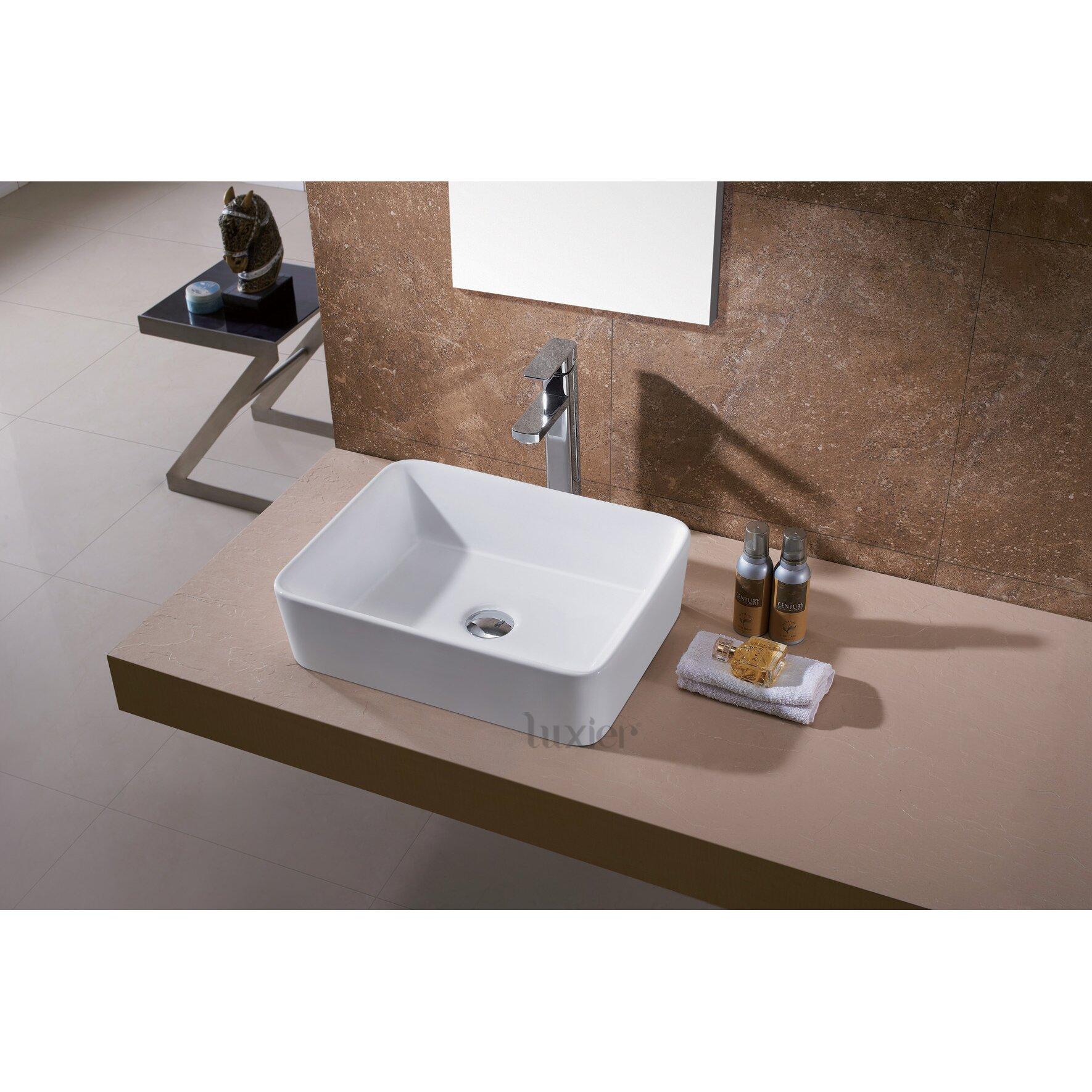 Luxier Ceramic Vessel Bathroom Sink & Reviews