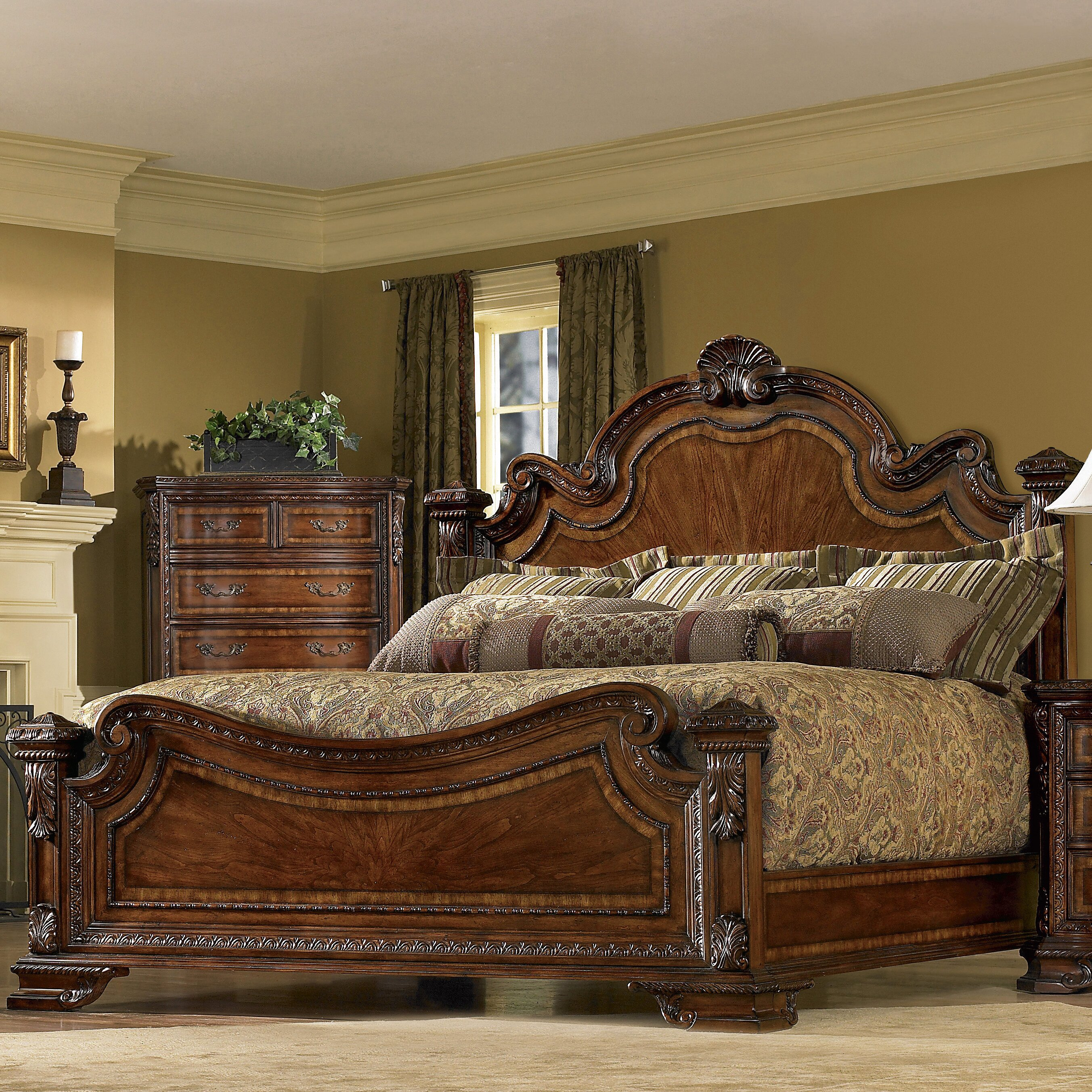 Old World Bedroom Furniture: Astoria Grand Ormside Panel Customizable Bedroom Set
