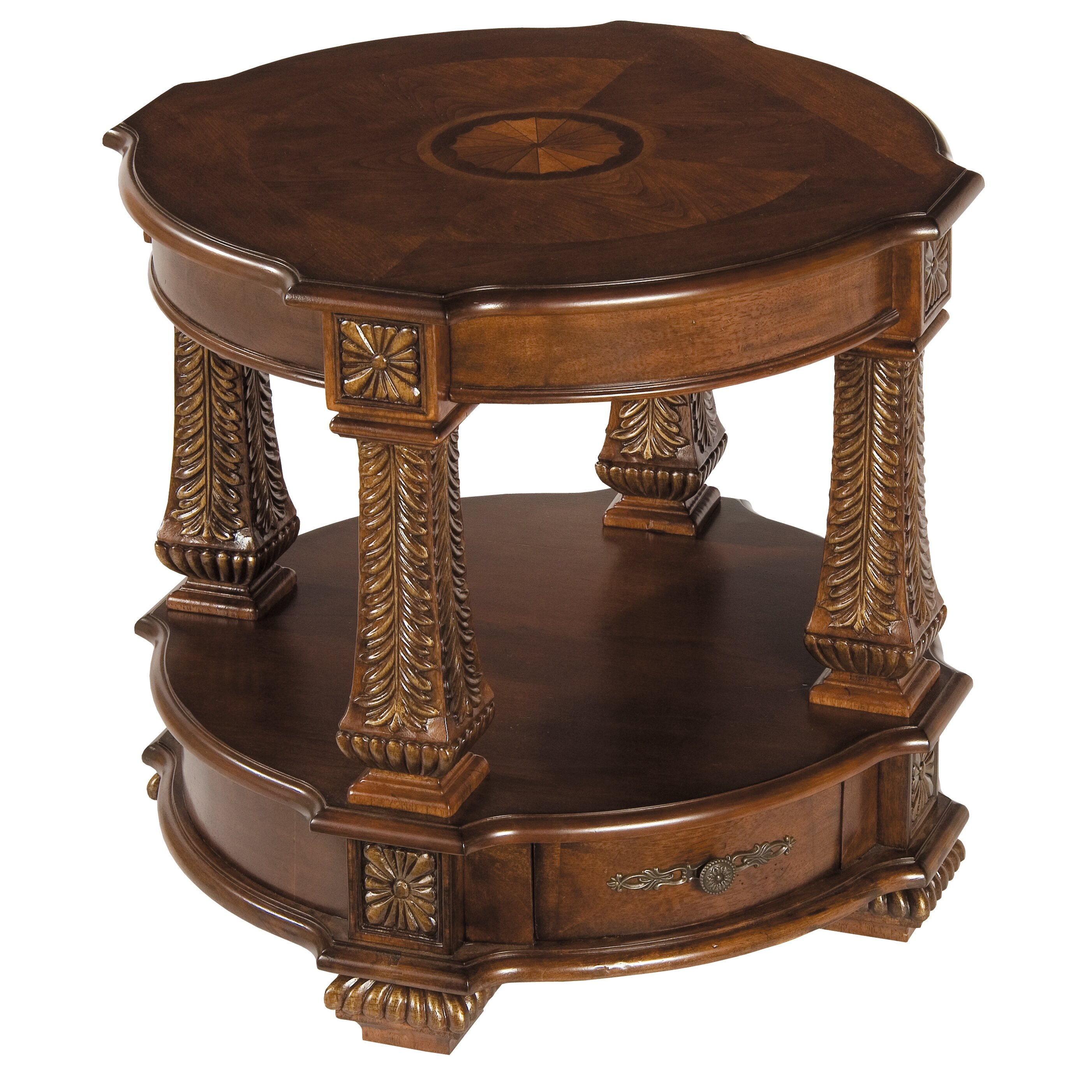 Astoria grand rivage round end table reviews wayfair for End tables for sale near me