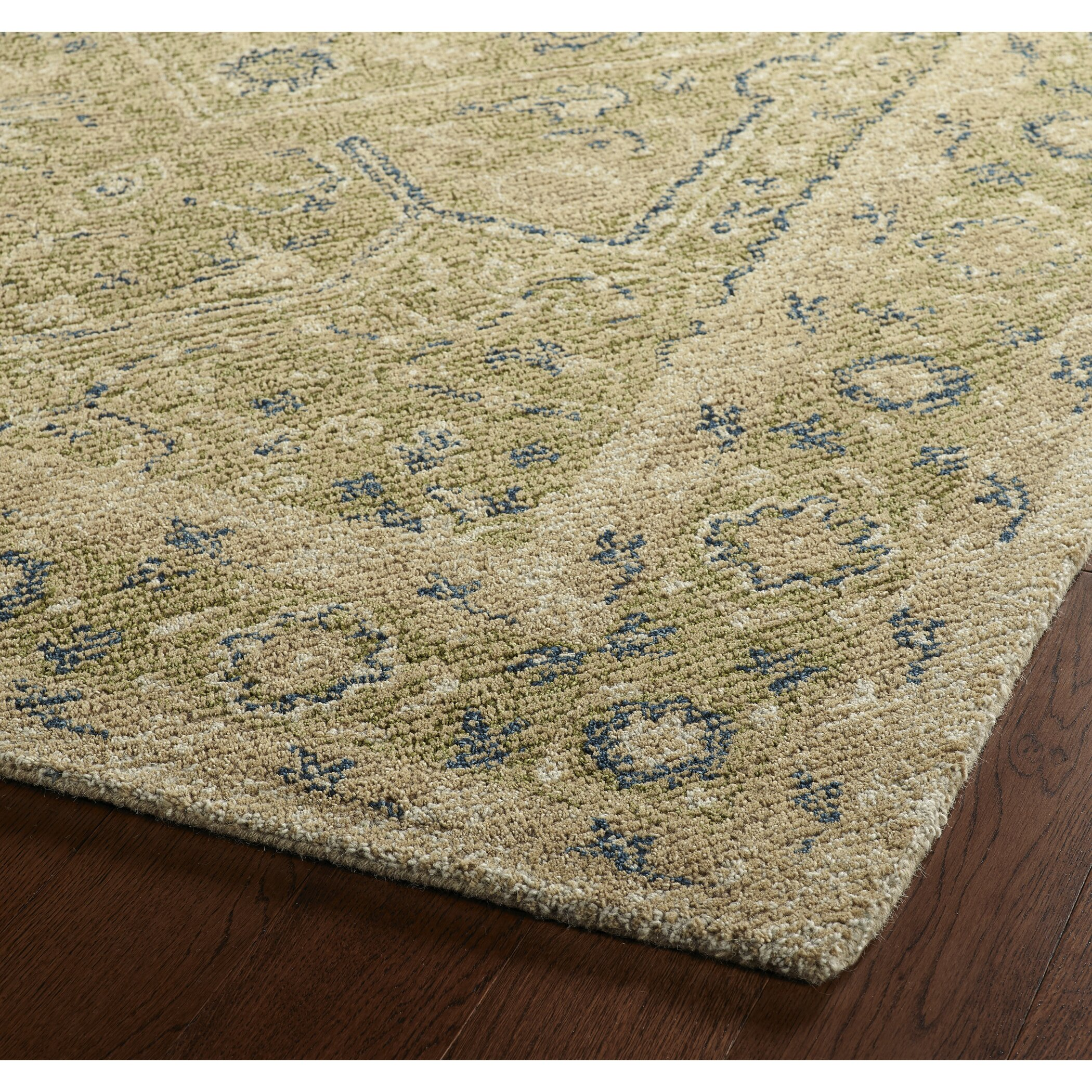 Astoria Grand Eugene Hand-Tufted Green Area Rug & Reviews