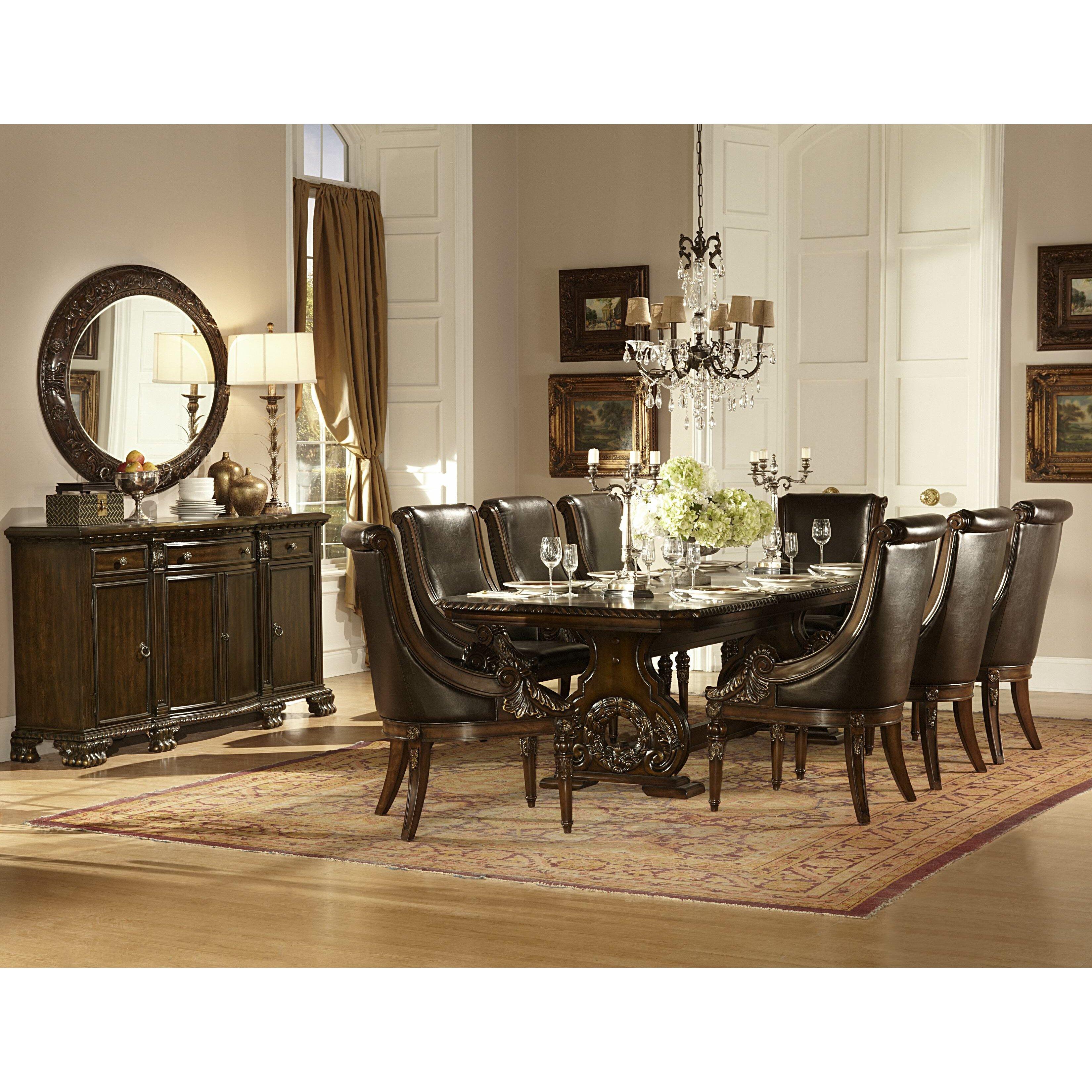 astoria grand chirk trestle extendable dining table reviews wayfair. Black Bedroom Furniture Sets. Home Design Ideas