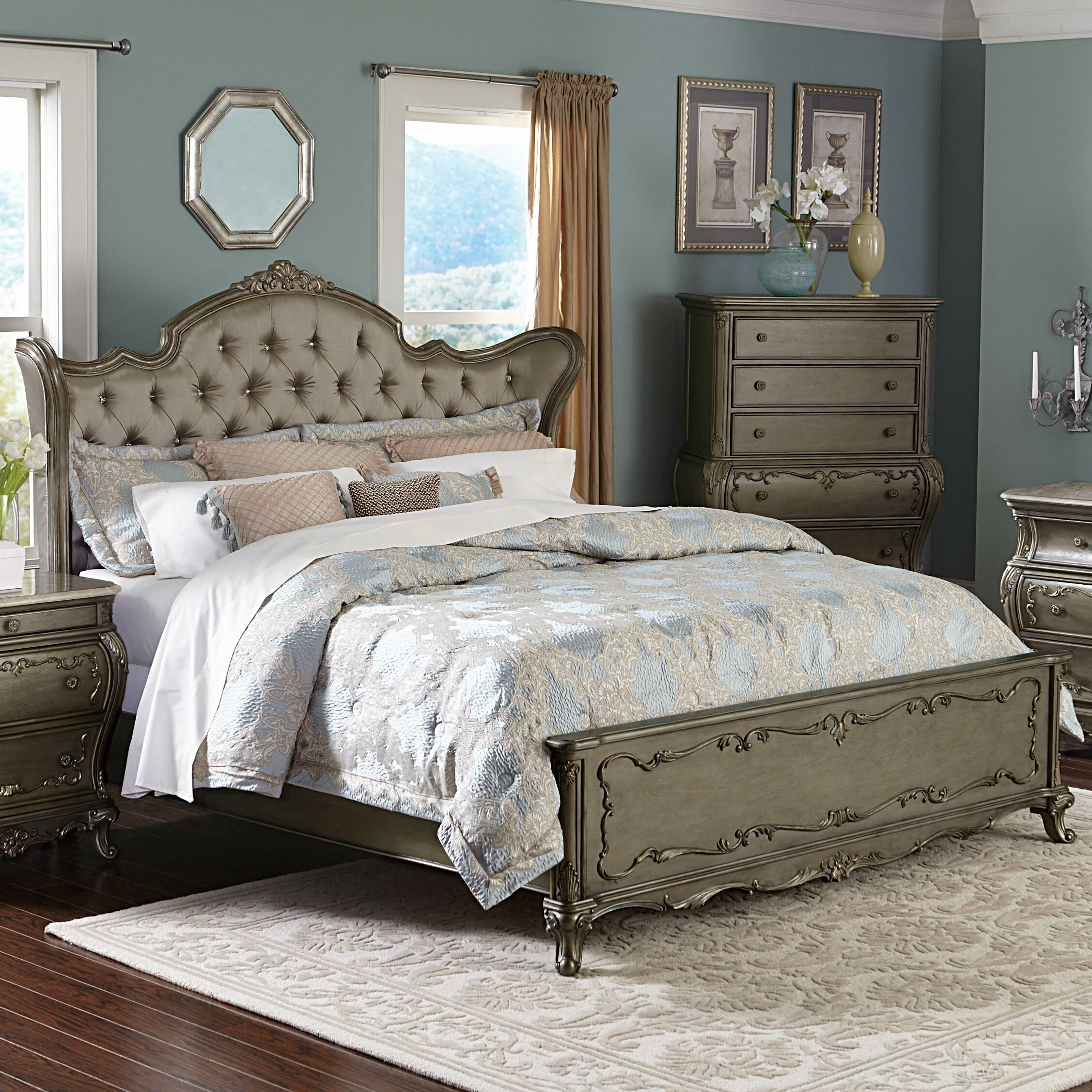 Astoria Grand Turville Upholstered Panel Bed Wayfair