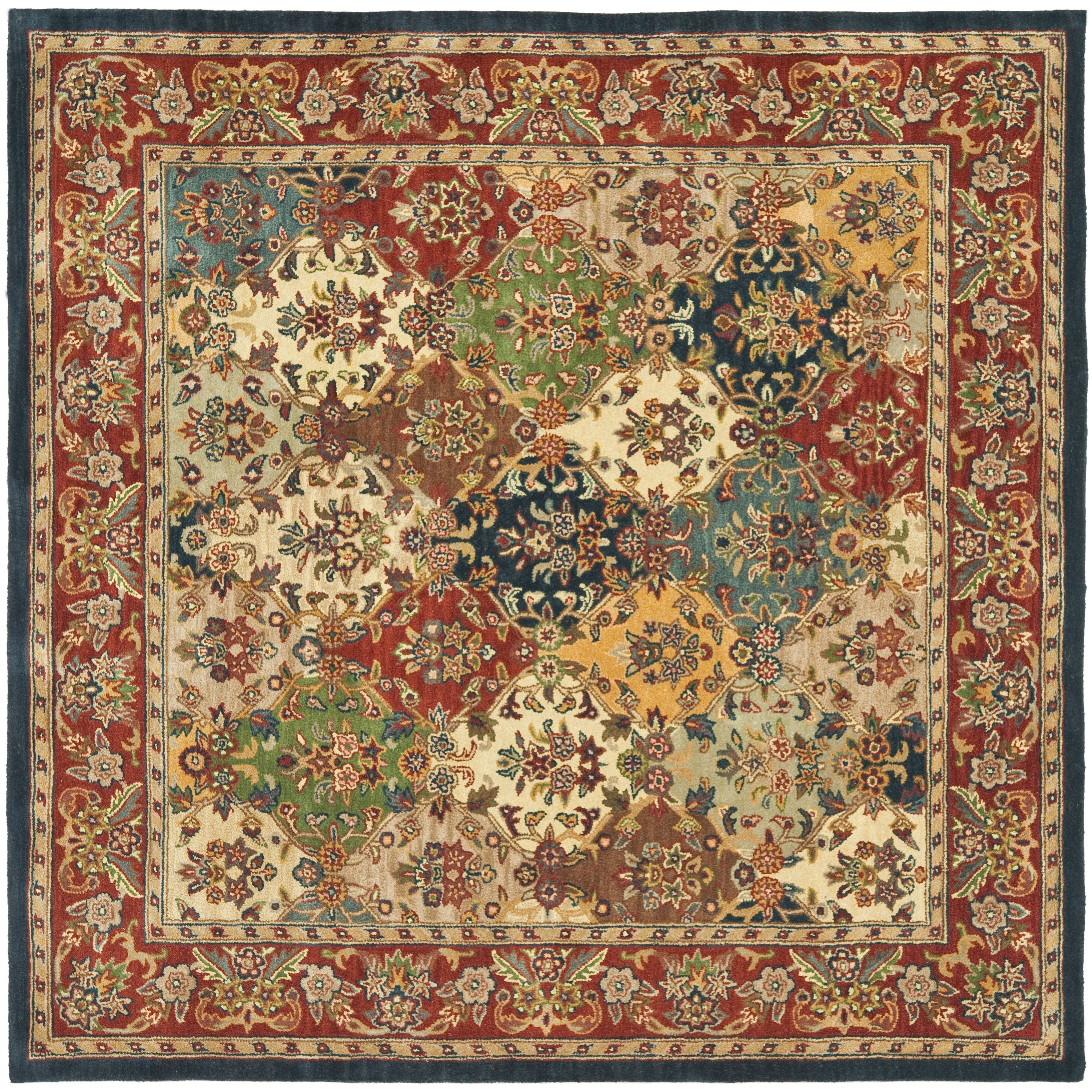 Dog Eating Wool Rug: Astoria Grand Balthrop Multi/Red Area Rug & Reviews