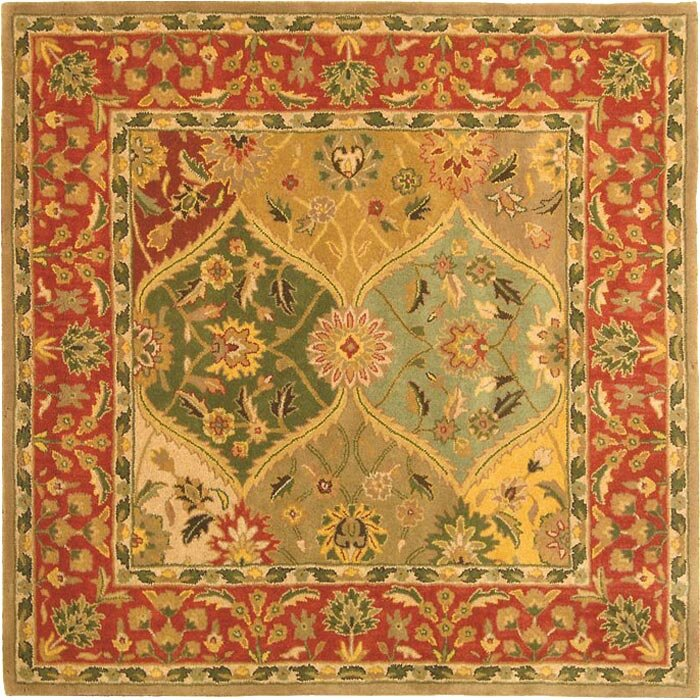 Astoria grand balthrop red yellow floral area rug for Red floral area rug
