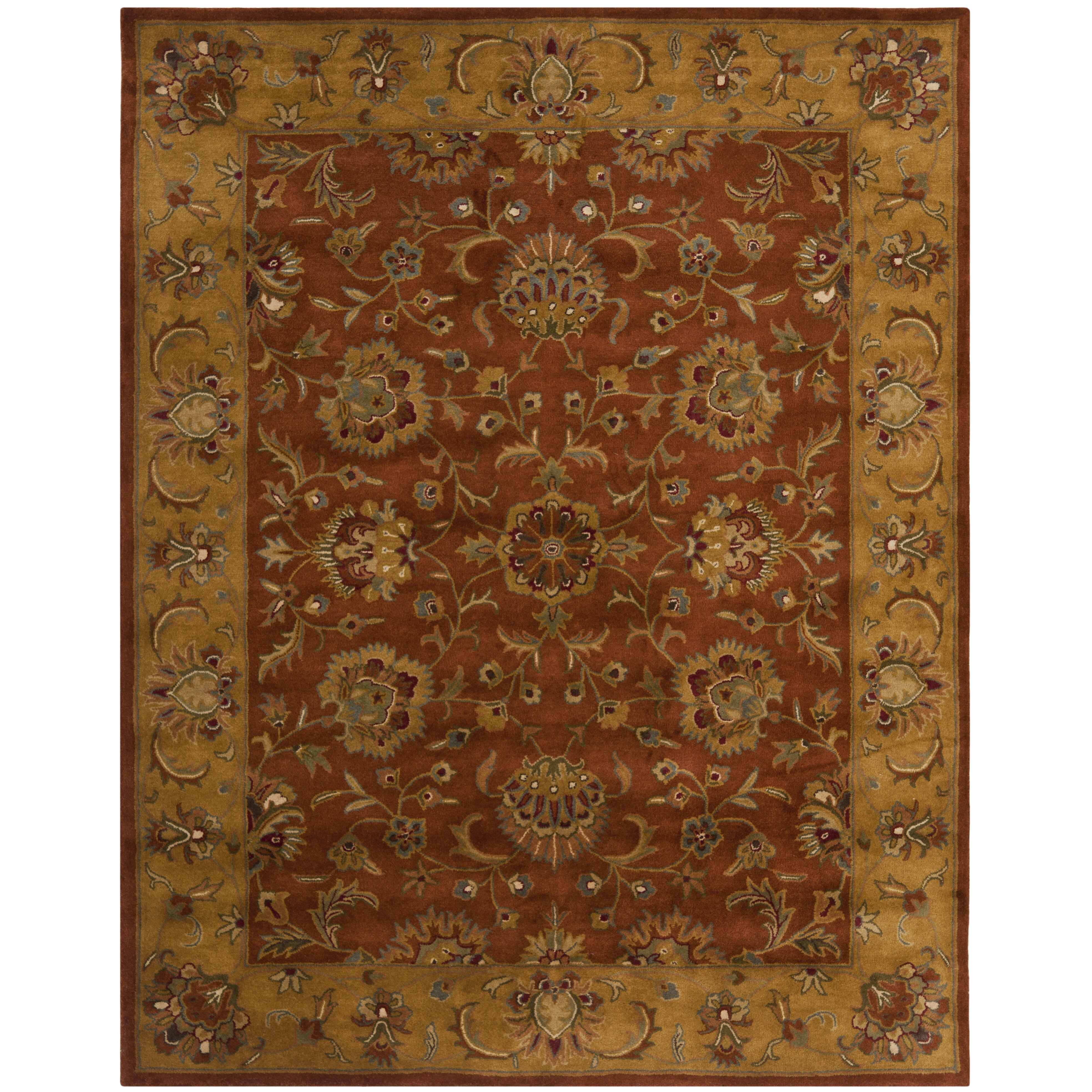 Dog Eating Wool Rug: Astoria Grand Balthrop Brown/Yellow Area Rug