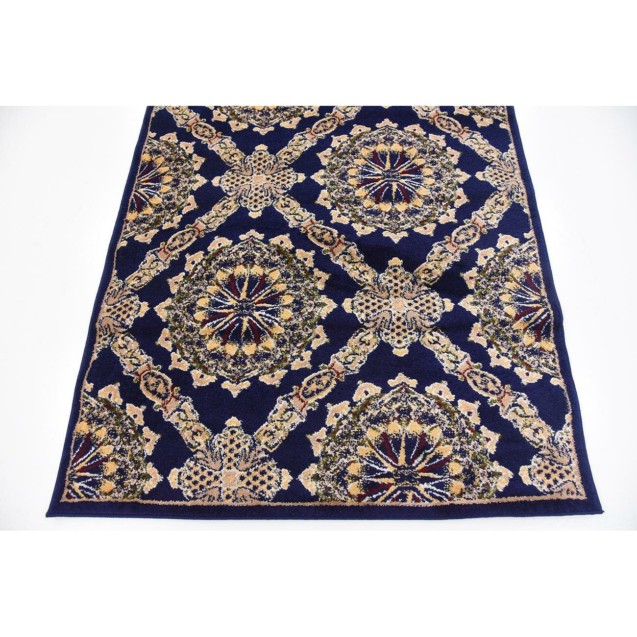 astoria grand marmont navy blue area rug reviews wayfair
