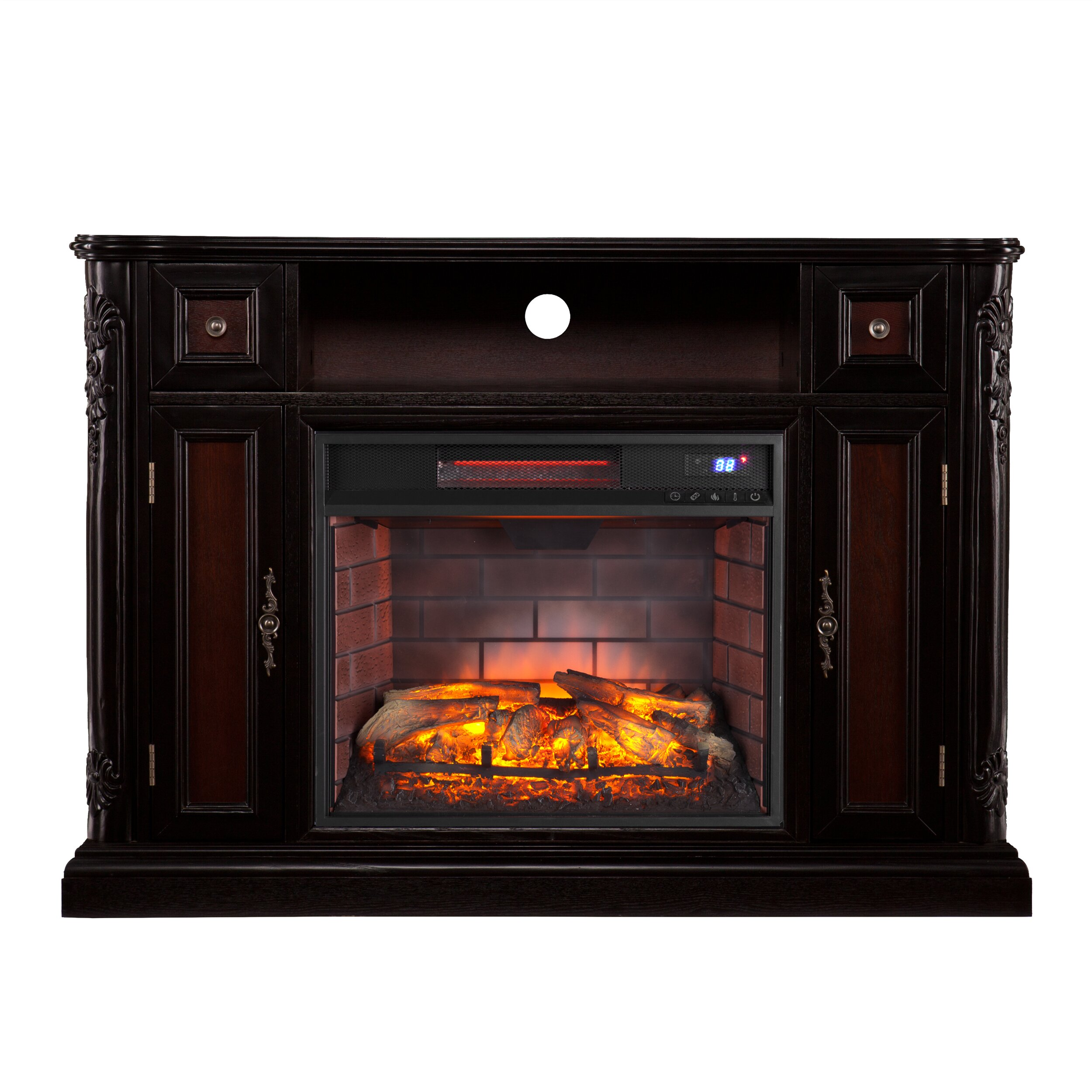 Astoria Grand Dolton Media Stand Infrared Electric Fireplace Wayfair