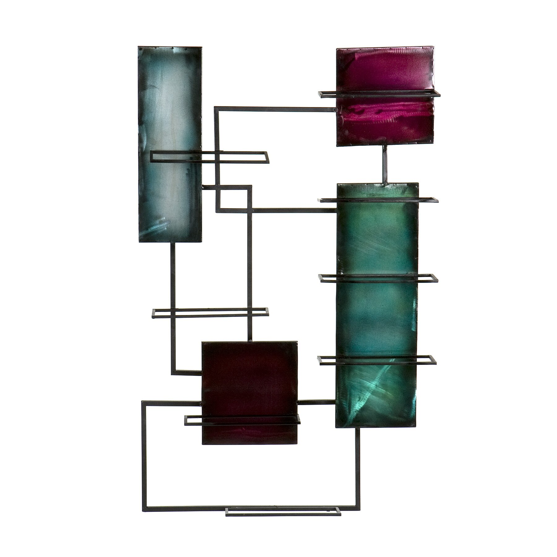 World Menagerie Sequeira 8 Bottle Wall Mounted Wine Rack