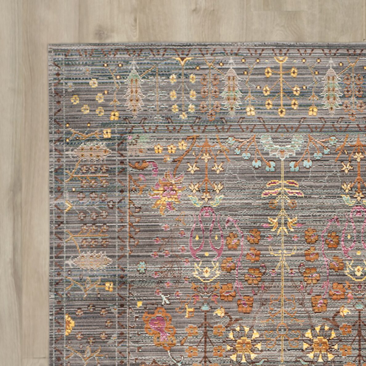 Bungalow rose ziraoui grey area rug reviews wayfair for Where can i buy area rugs