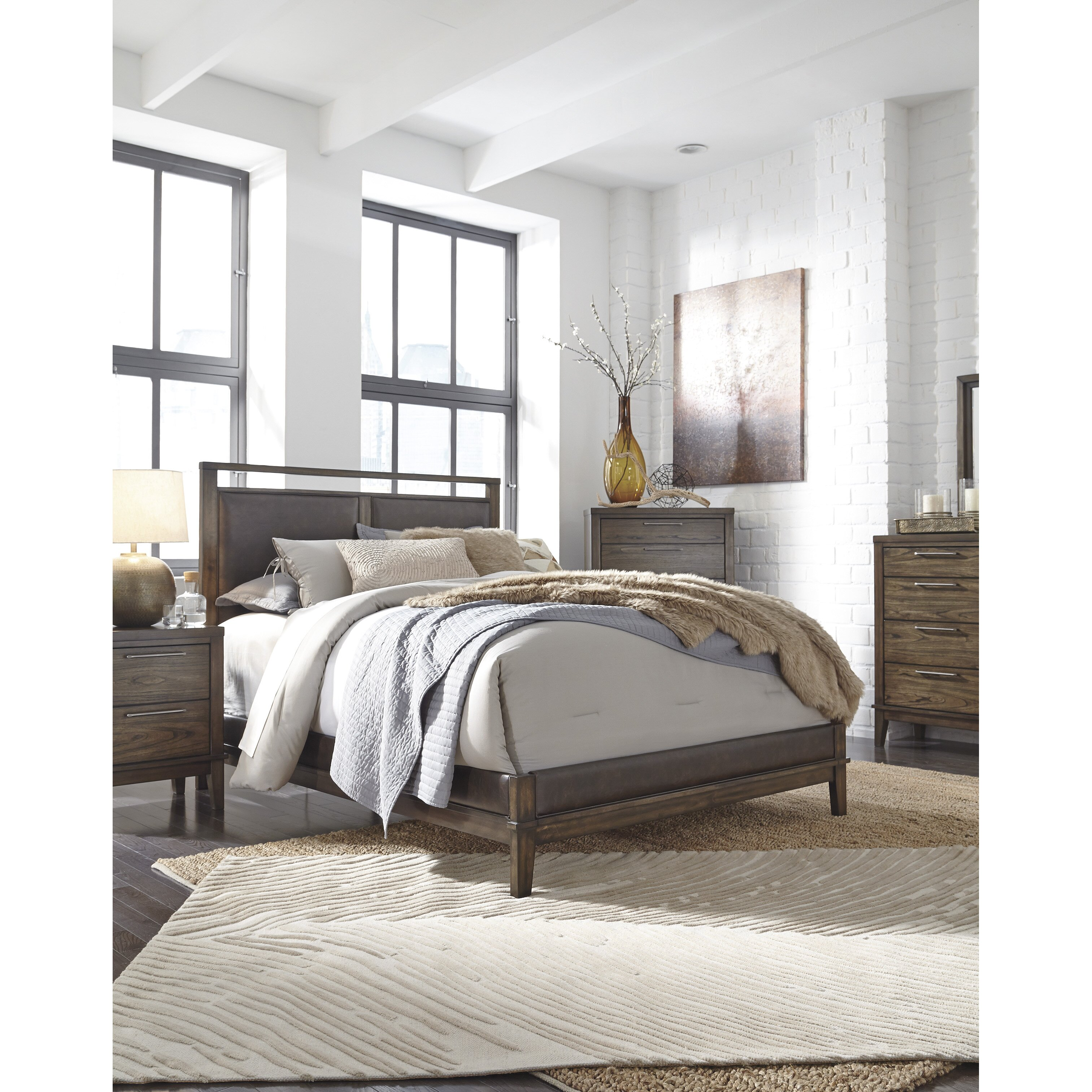 World menagerie labhira upholstered panel customizable bedroom set reviews for Bedroom sets with upholstered headboards