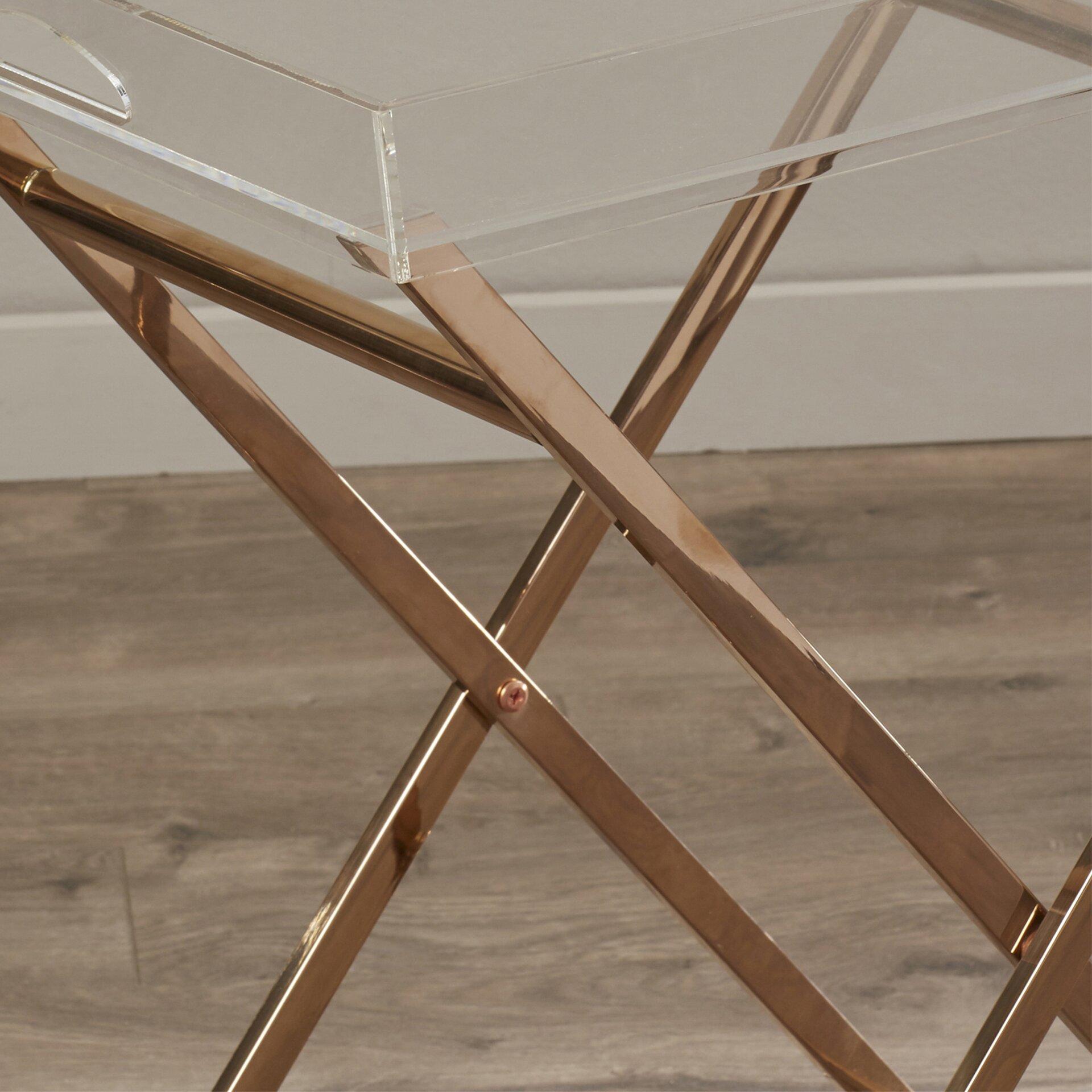 Mercer41 Fort Pierce Acrylic Tray Table Amp Reviews Wayfair