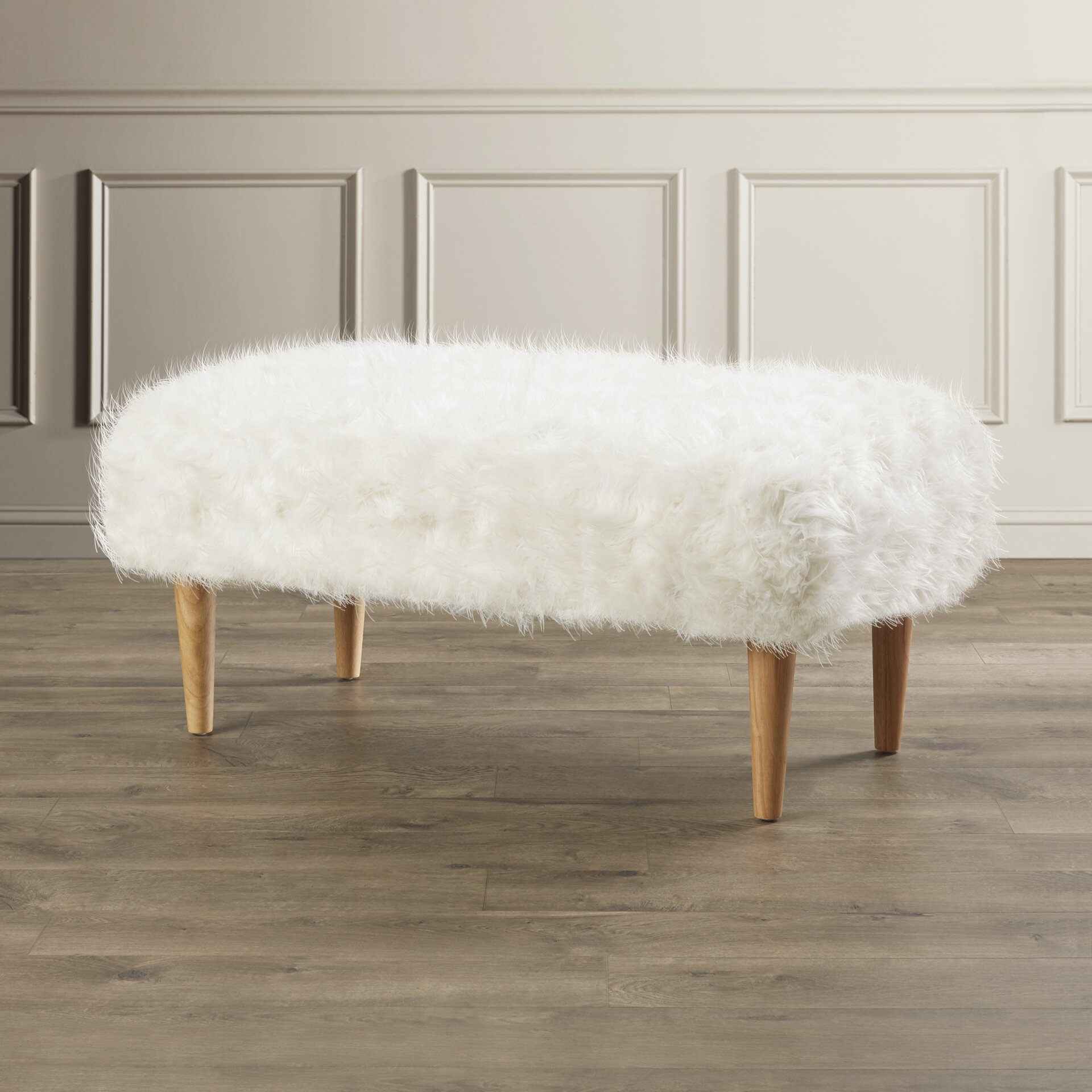 Mercer41 Carbon Upholstered Bedroom Bench Reviews Wayfair