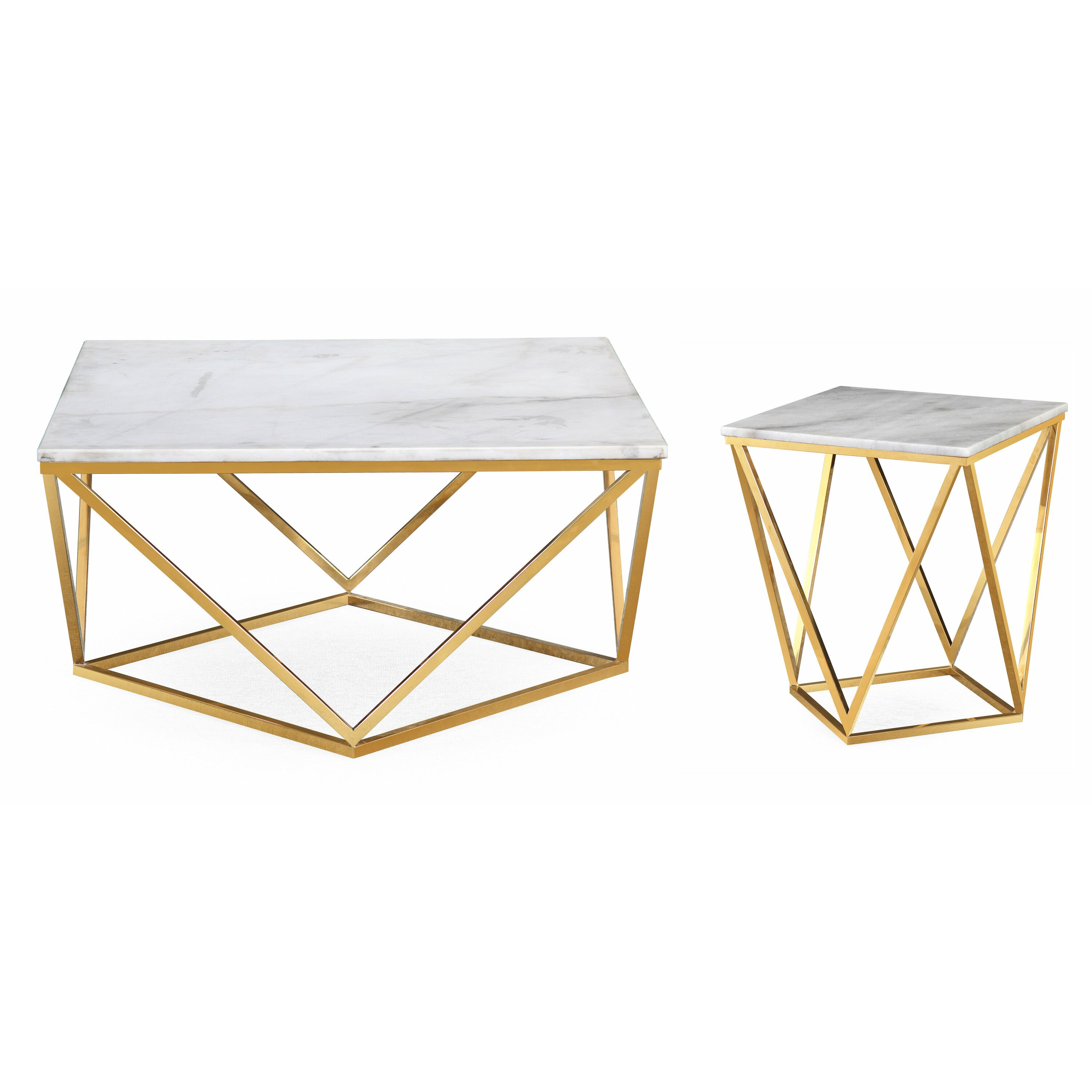 Mercer41 Rochdale Coffee Table Set Wayfair