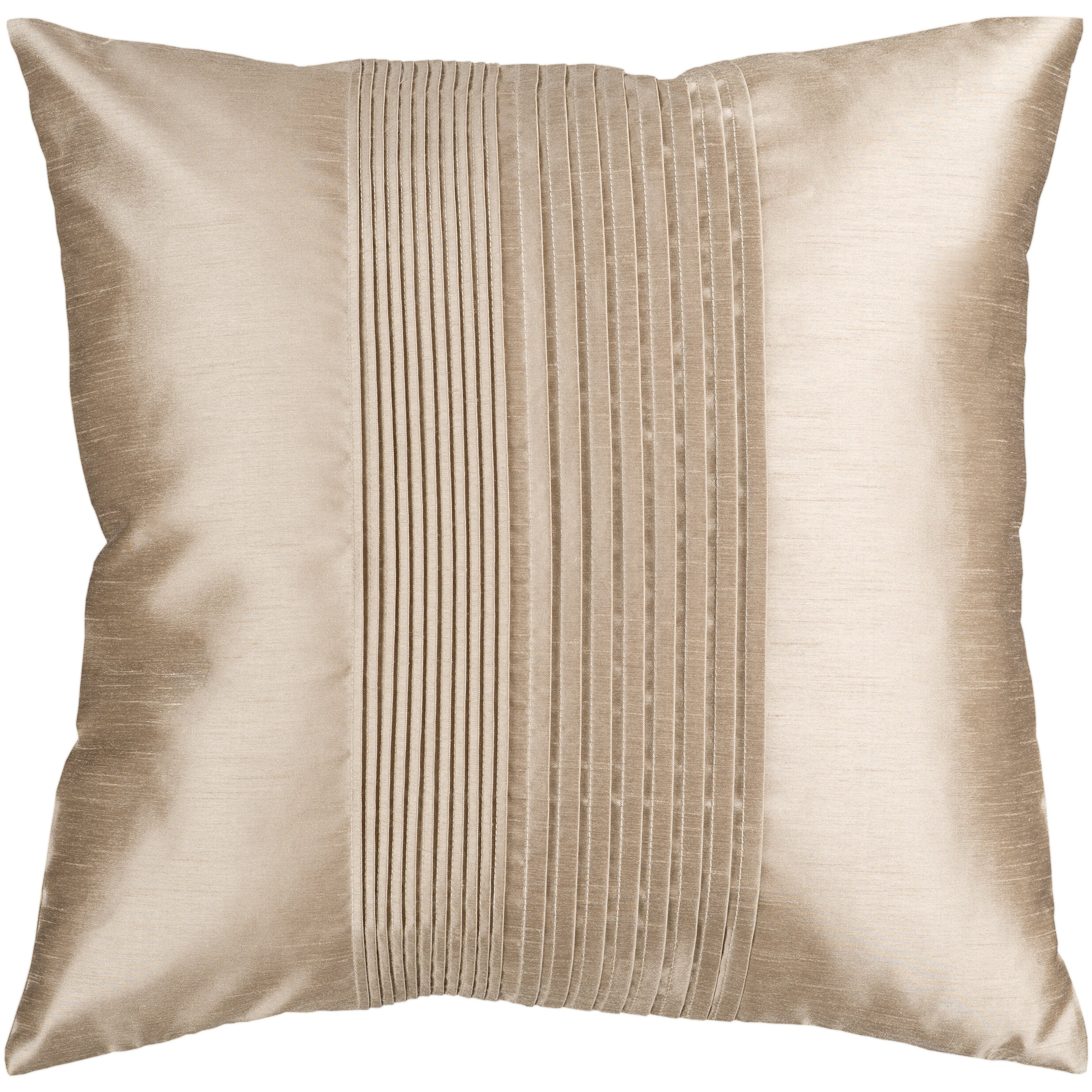 Mercer41 Grullo Solid Pleated Throw Pillow Cover & Reviews Wayfair