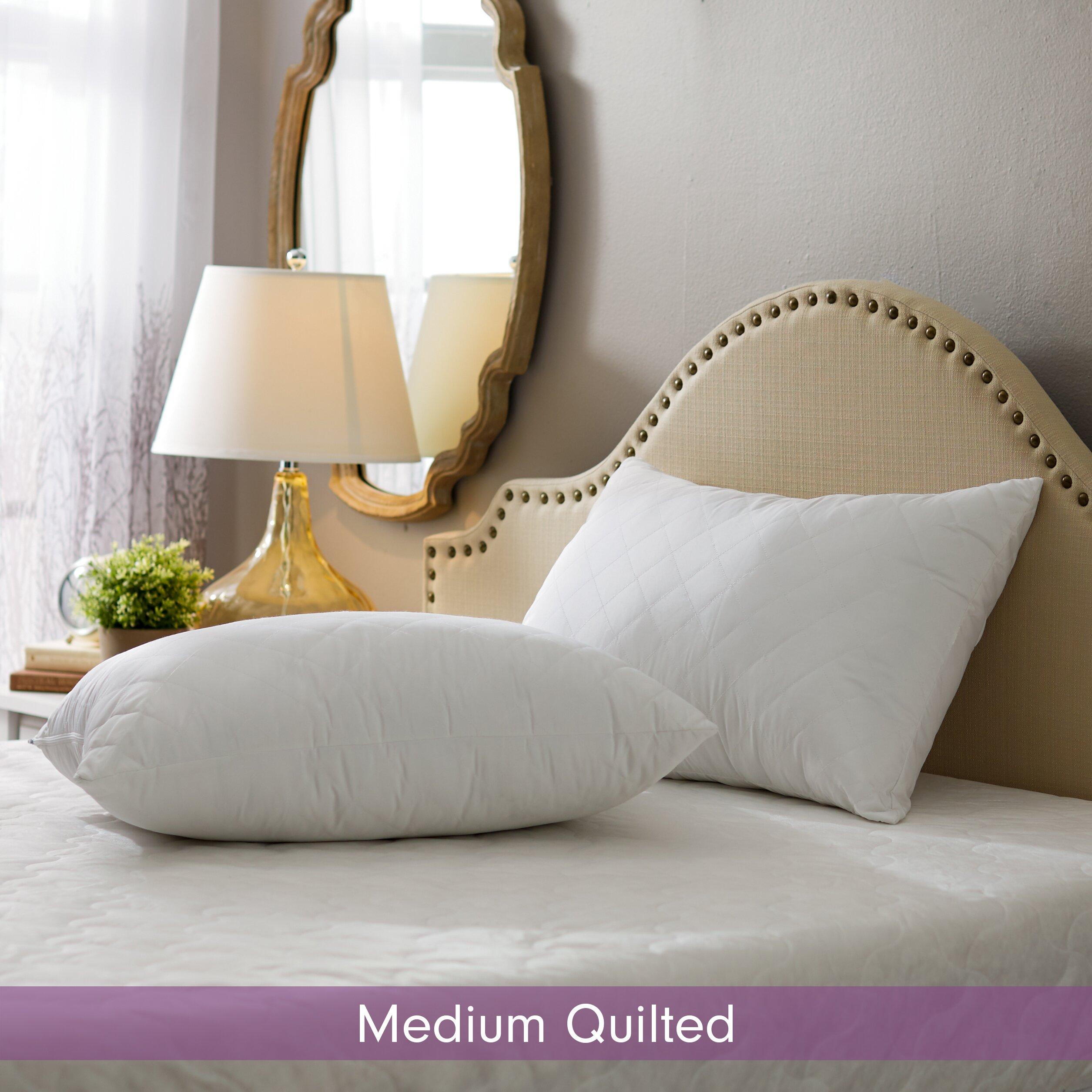 Wayfair sleep wayfair sleep medium quilted pillow for Bed pillows reviews