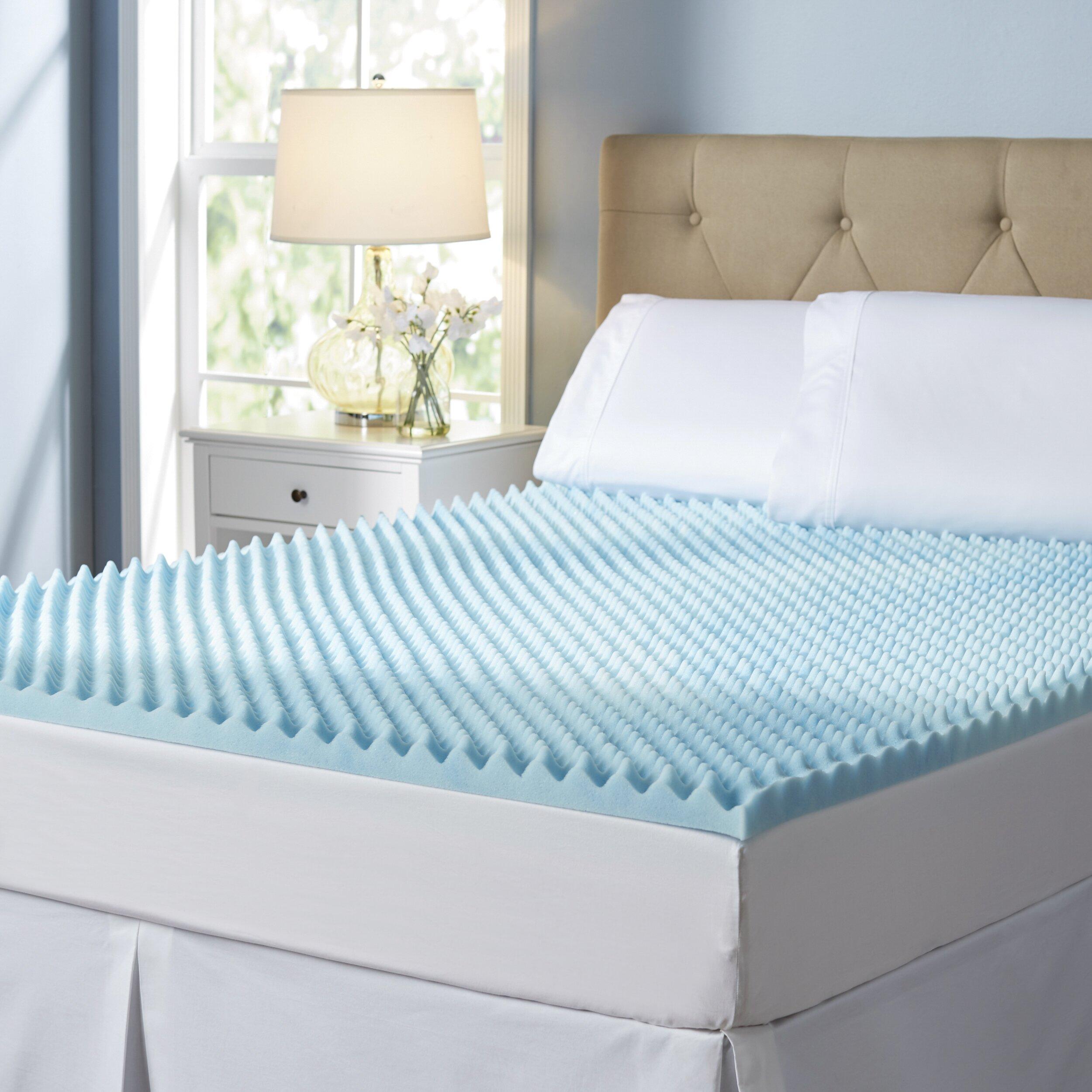 wayfair sleep wayfair sleep 2 gel memory foam mattress topper reviews wayfair. Black Bedroom Furniture Sets. Home Design Ideas