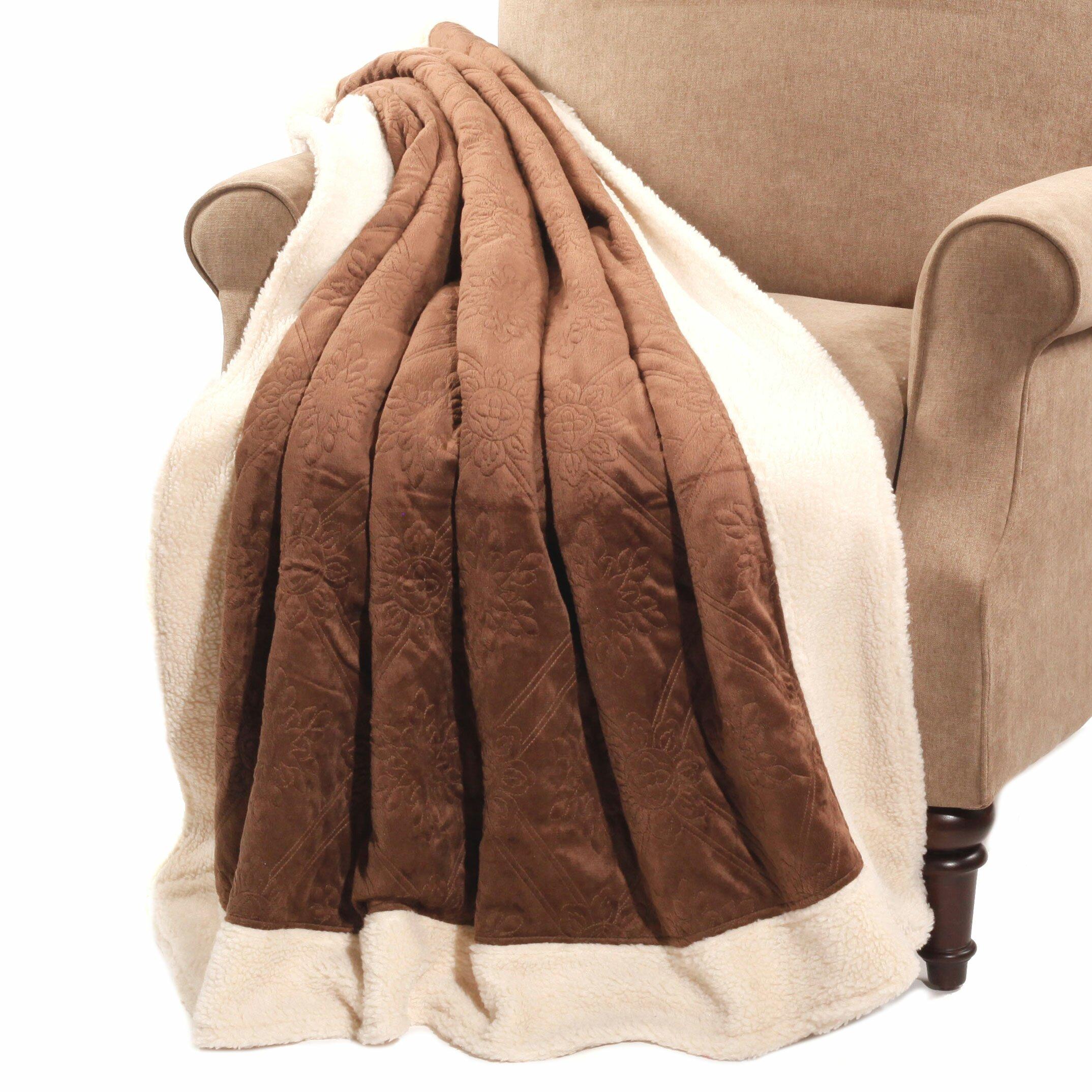 Boon Throw Blanket Micro Plush Sherpa Throw Reviews