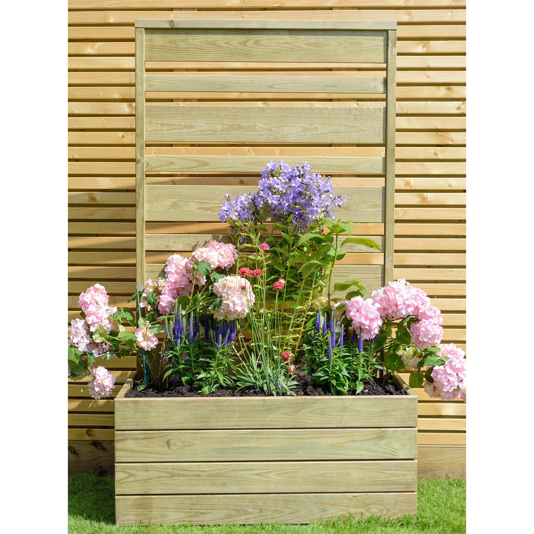 Grange fencing urban rectangular planter wayfair uk for Urban glass fencing