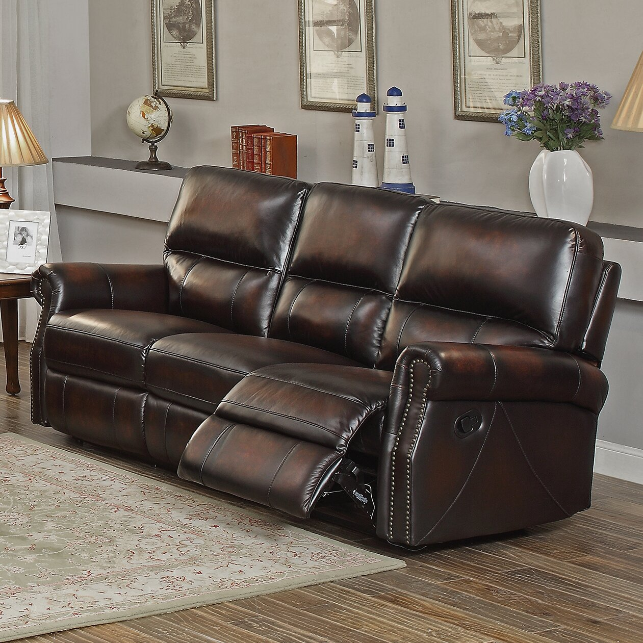 Amax nevada 2 piece leather living room set reviews for 2 piece living room set