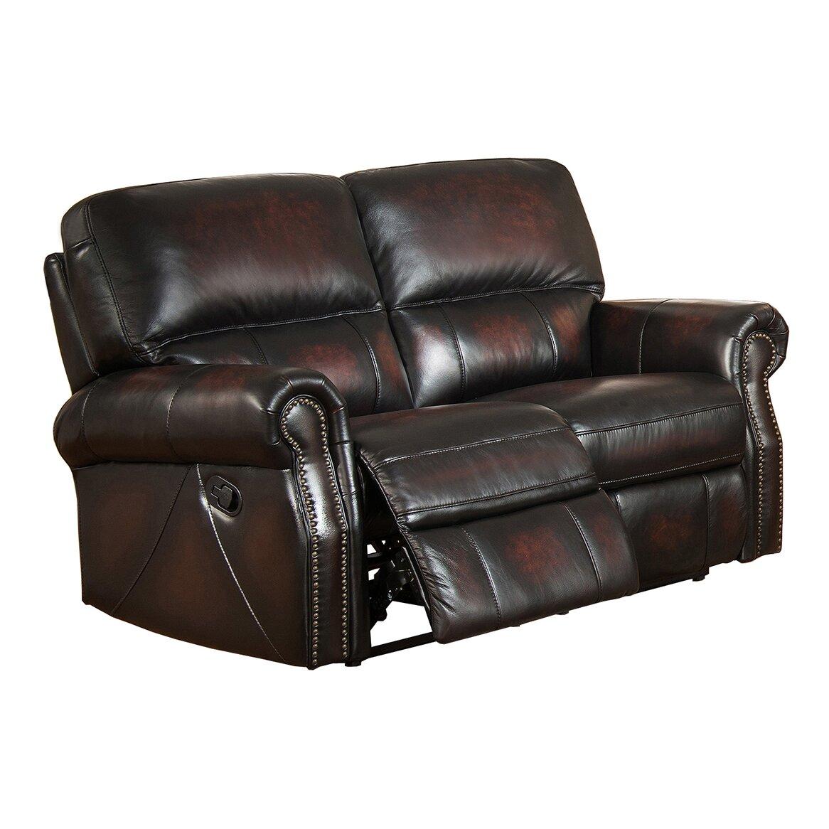 Amax Nevada Leather Loveseat Recliner Wayfair