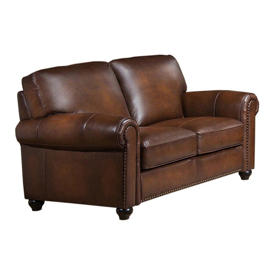 Amax Aspen Leather Sofa And Loveseat Set Wayfair