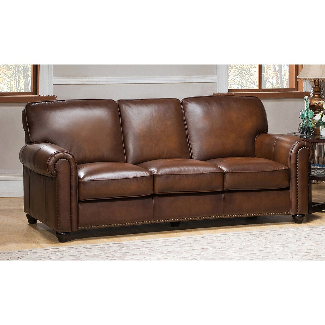 Amax aspen 3 piece leather living room set wayfair for Leather living room sets
