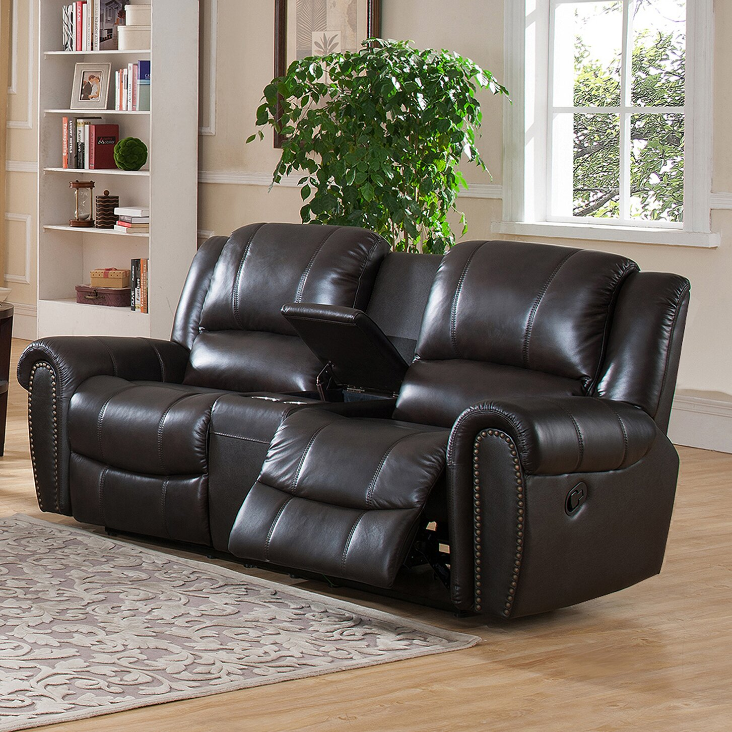Amax Charlotte Leather Recliner Sofa And Loveseat Set