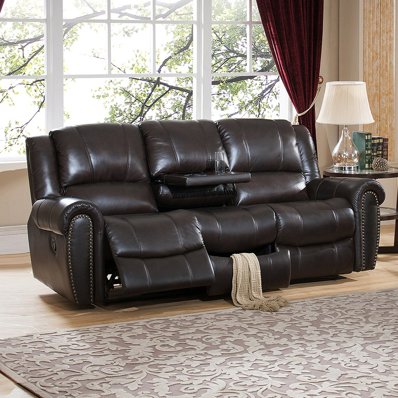3 piece reclining living room set amax 3 leather recliner living room set 23988