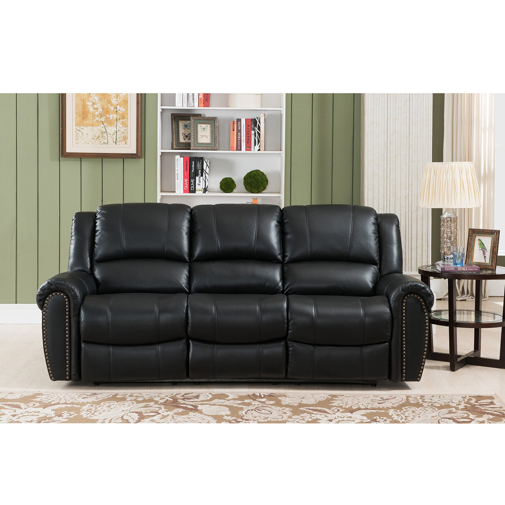 Amax Houston Leather Reclining Sofa Reviews
